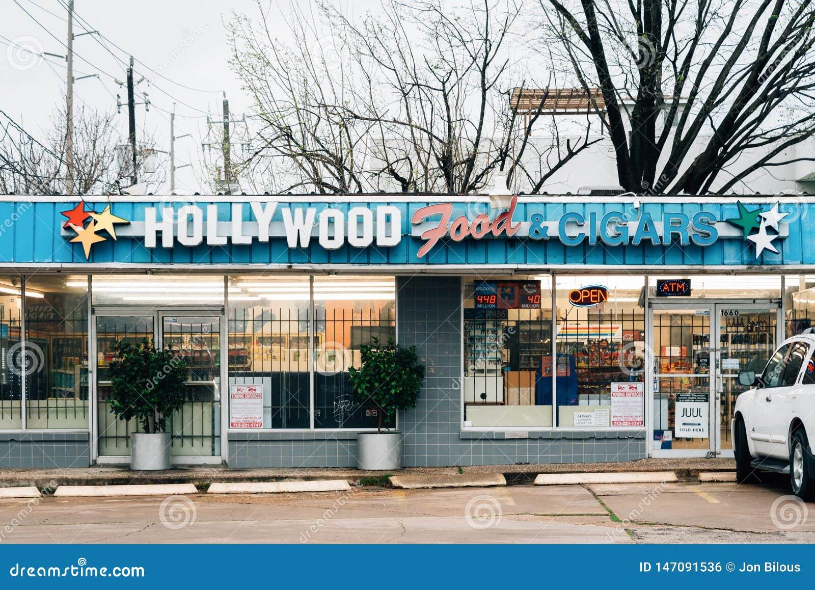 Hollywood mat & cigarrer, i Montrose, Houston, Texas