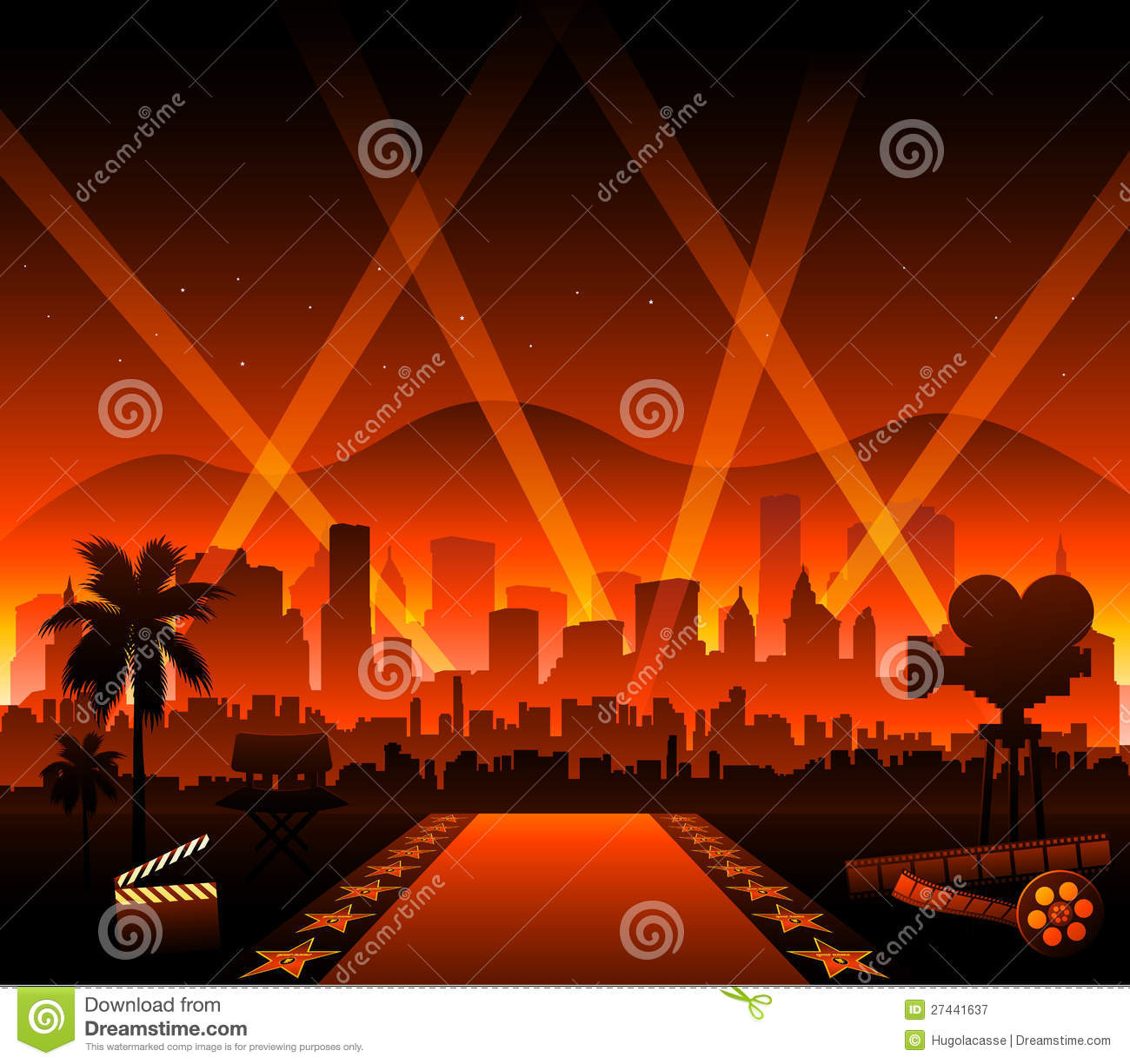 Hollywood Movie Red Carpet Royalty Free Stock Photography