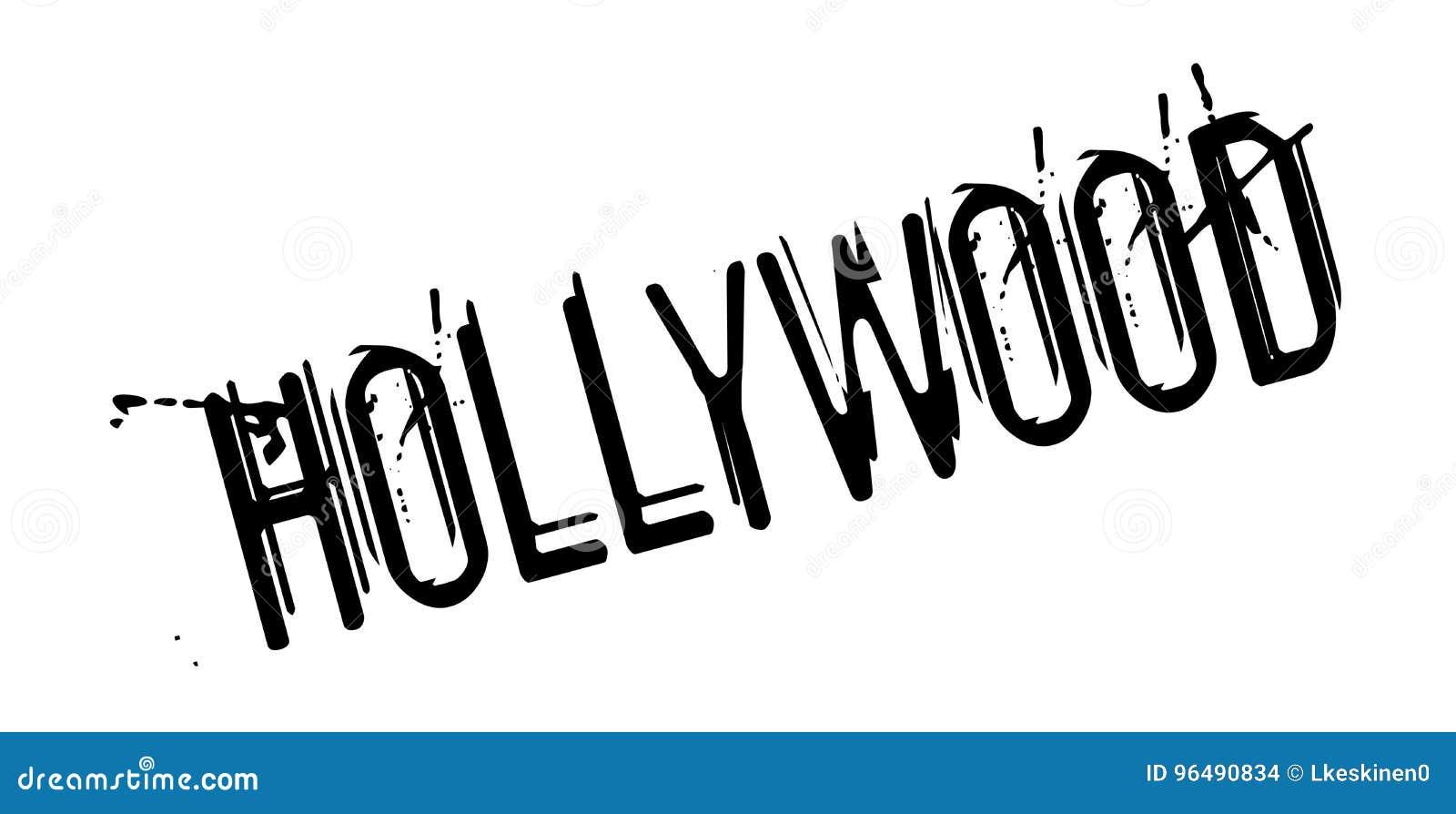 Hollywood rubber stämpel