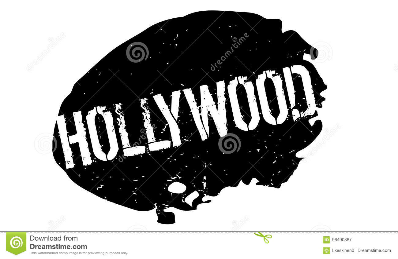 Hollywood rubber stämpel