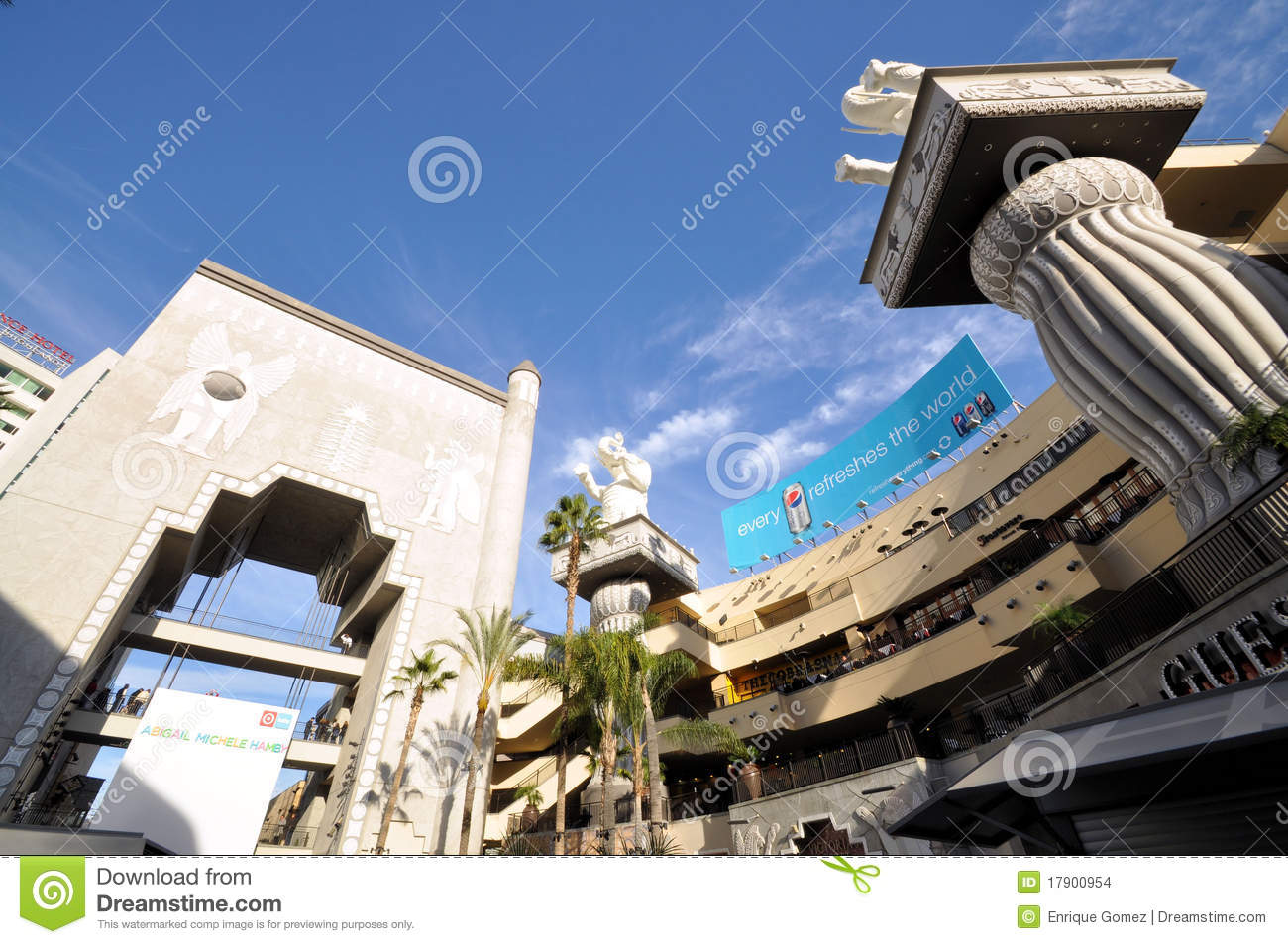 Hollywood shopping center stock images
