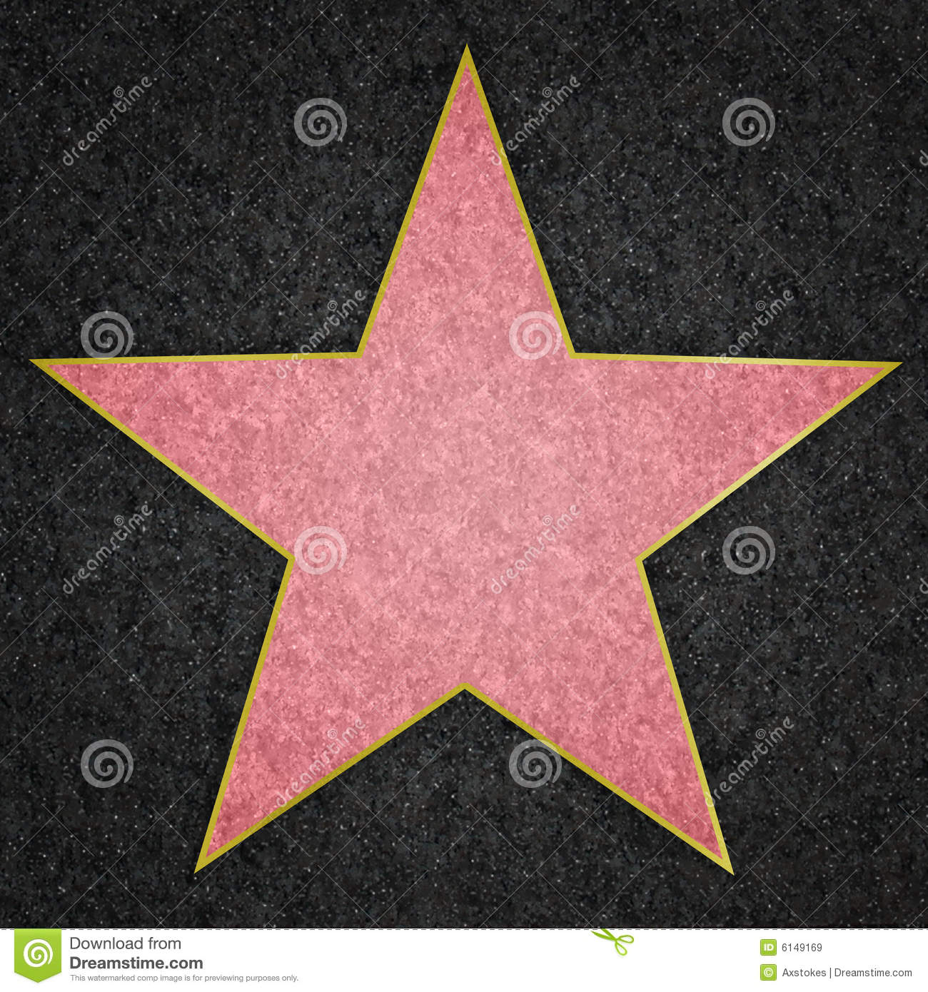Hollywood Star Royalty Free Stock Images - Image: 6149169