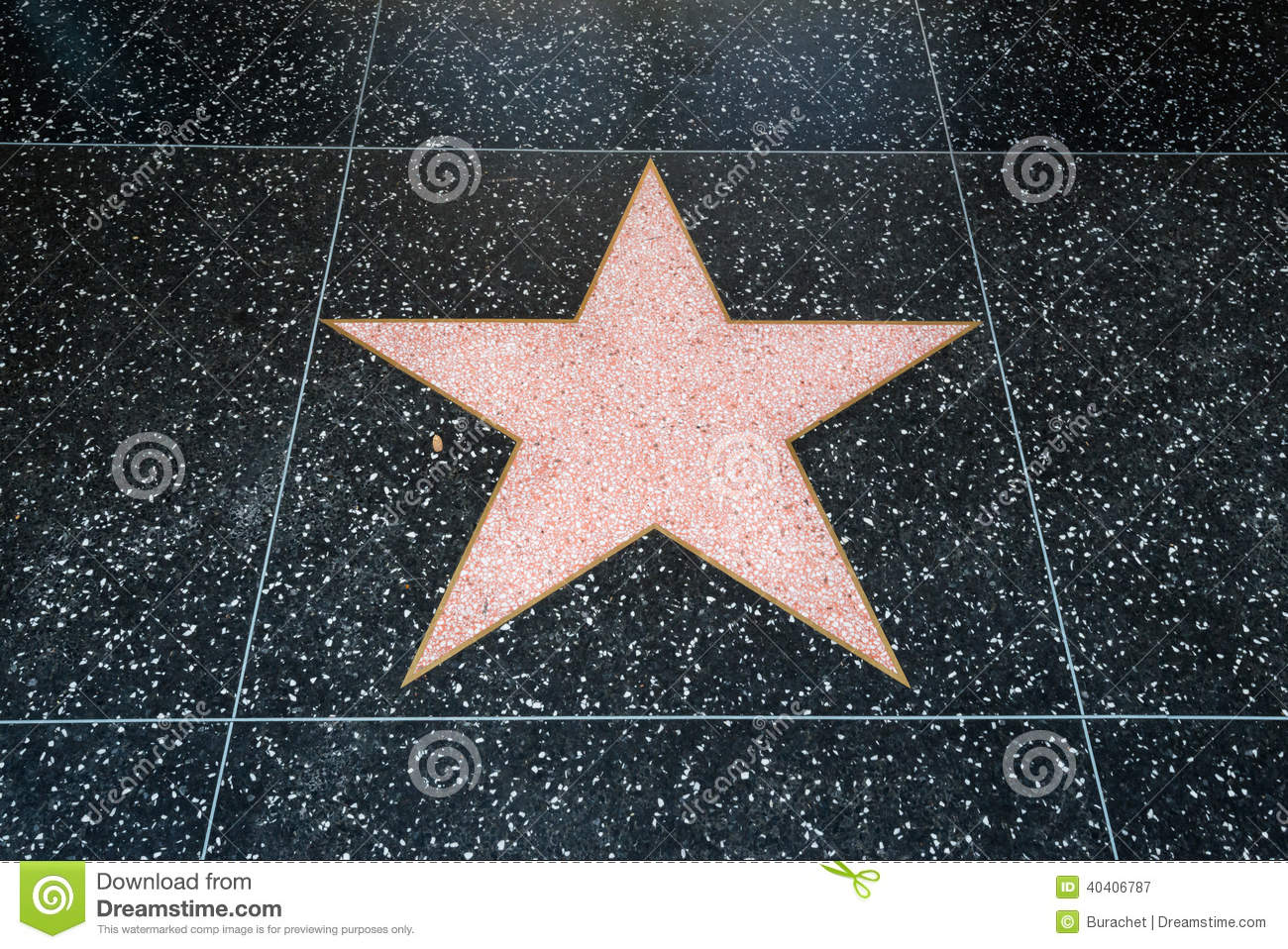 Hollywood Star Stock Photo - Image: 40406787