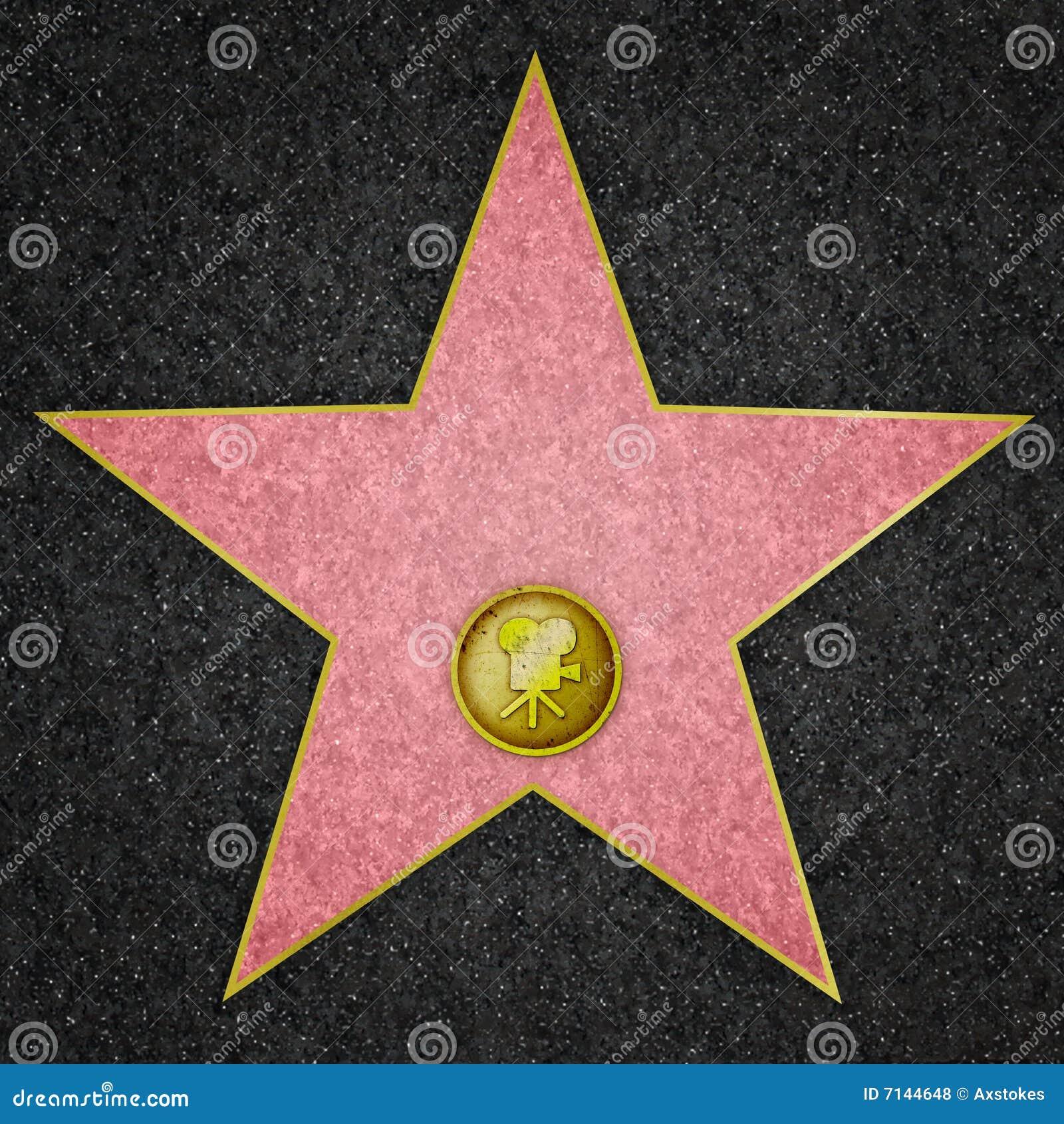 Hollywood stjärna - filmstjärna
