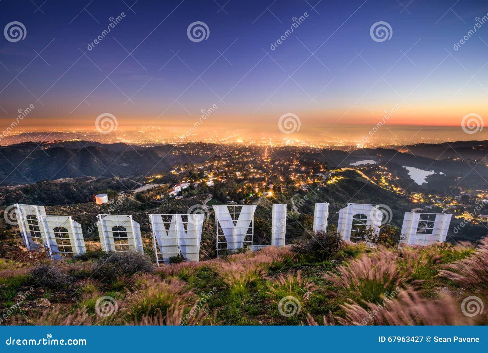 Hollywood tecken Los Angeles