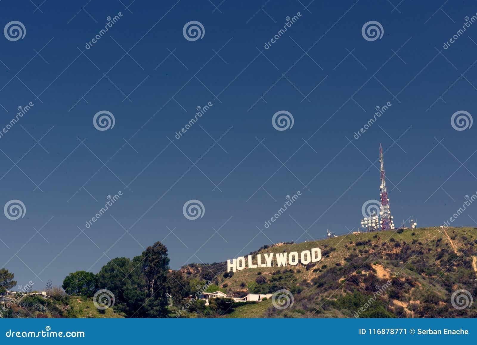 Hollywood tecken på backen, Kalifornien