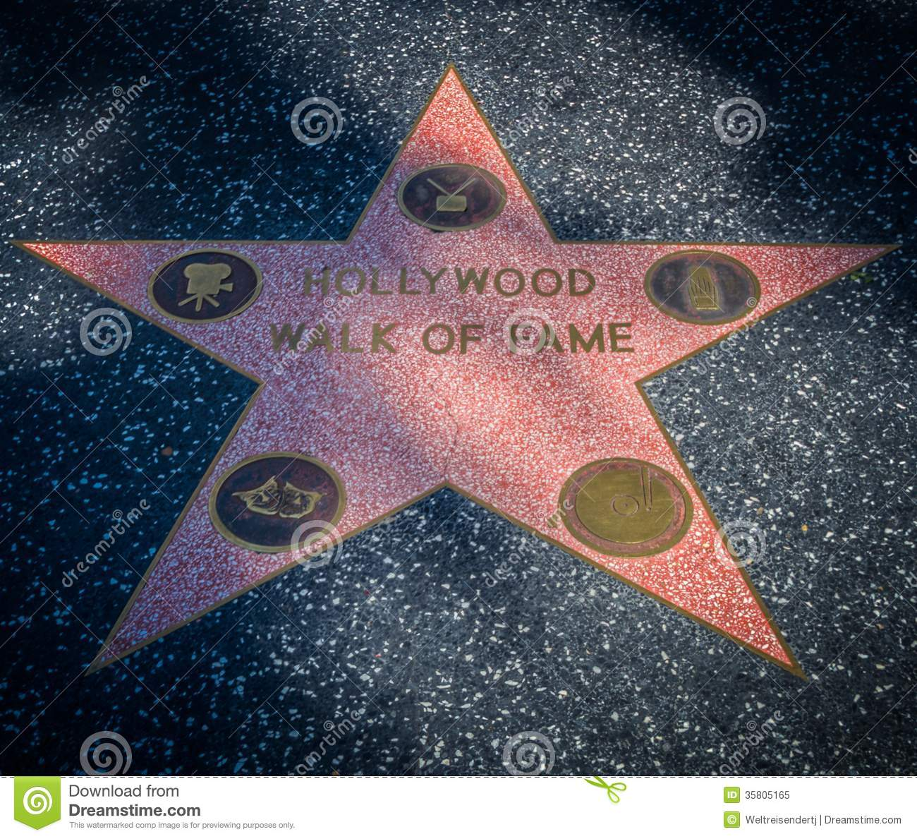 Hollywood Walk Of Fame Star Editorial Image Image 35805165