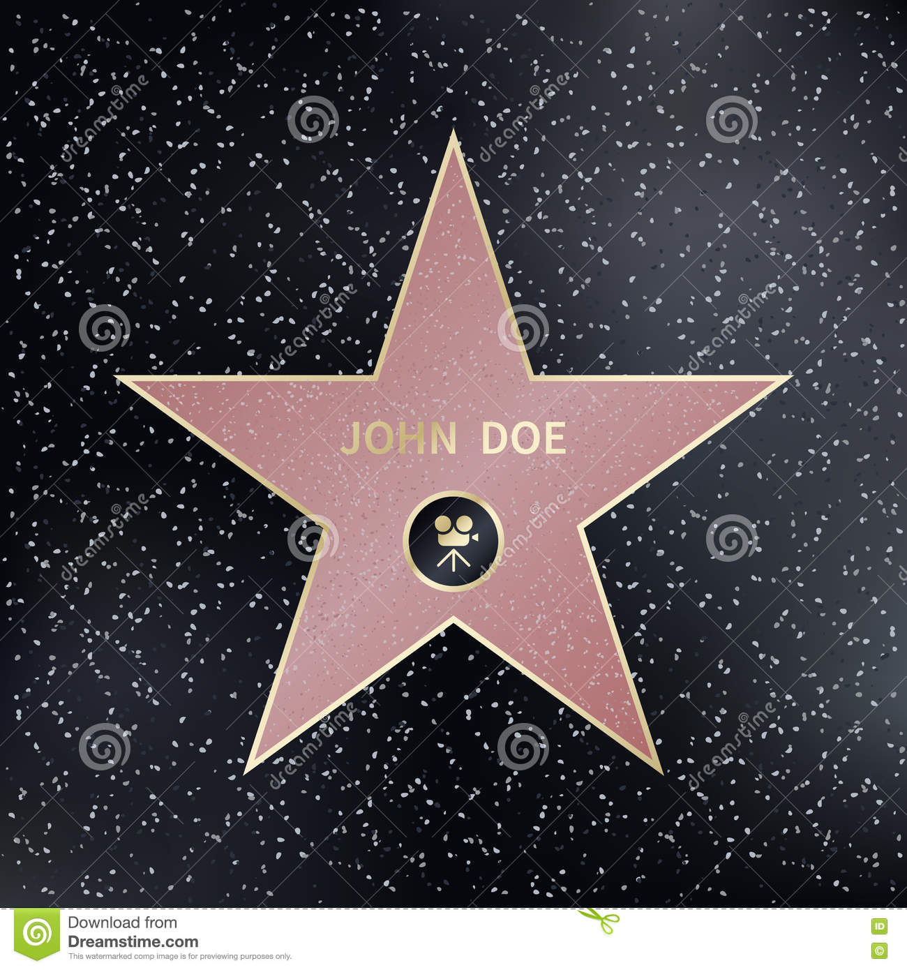 hollywood walk of fame star vector illustration stock