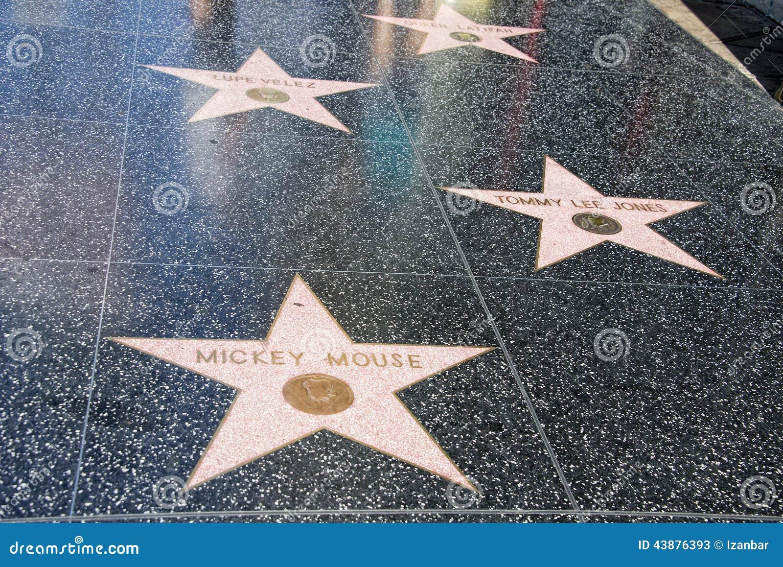 Hollywoodgang van Bekendheid Mickey Mouse