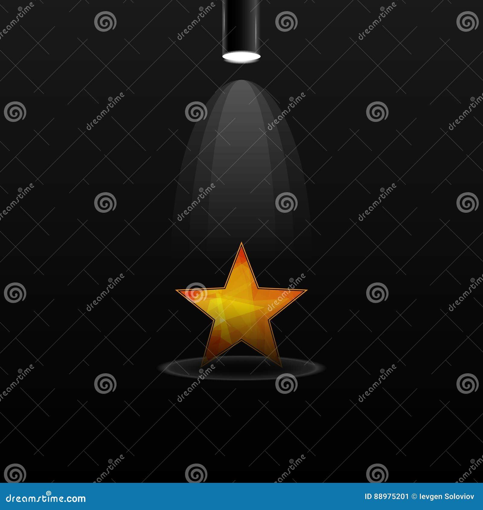 Holofote bonde com estrela