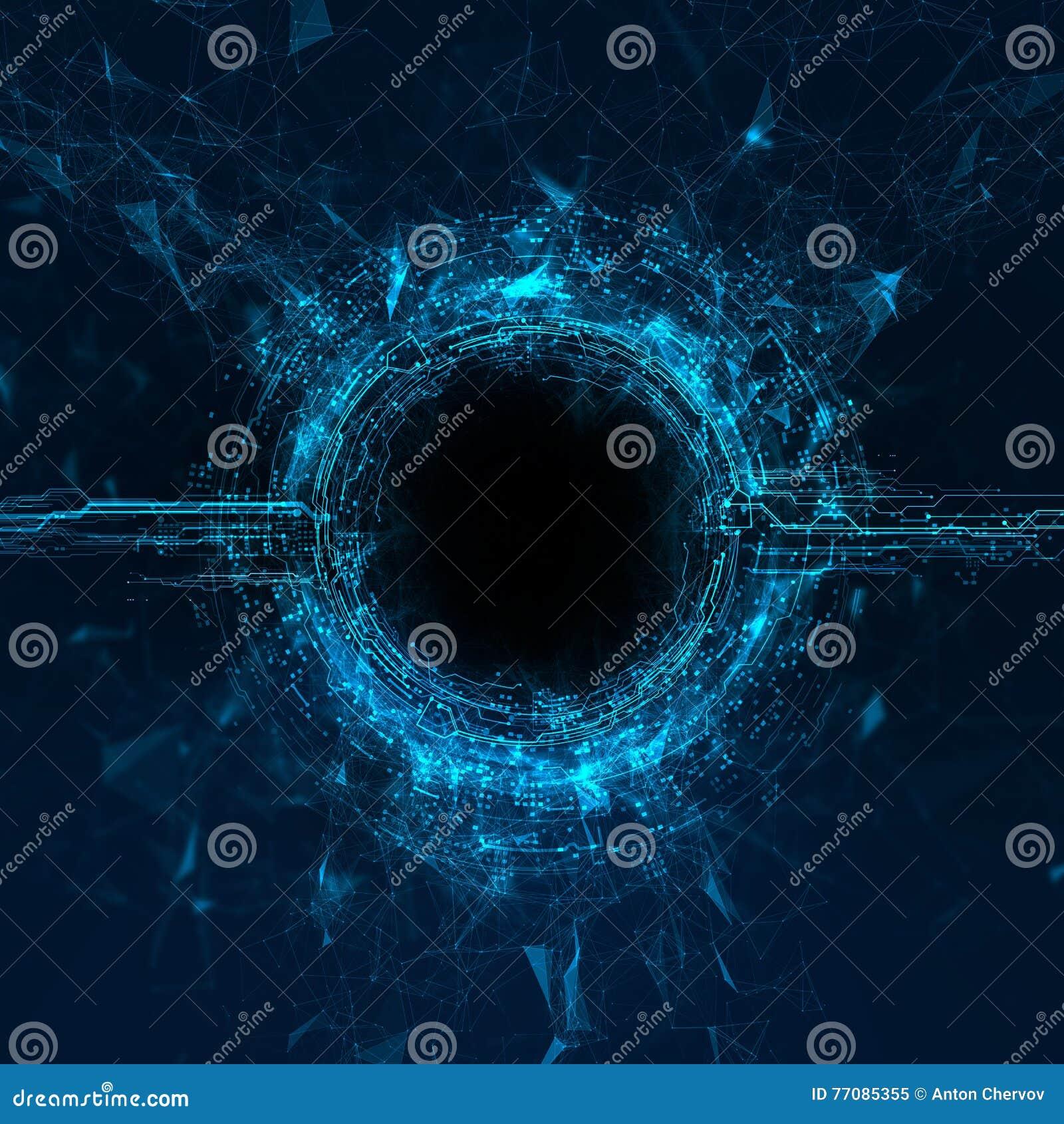 Holograma do córrego da energia