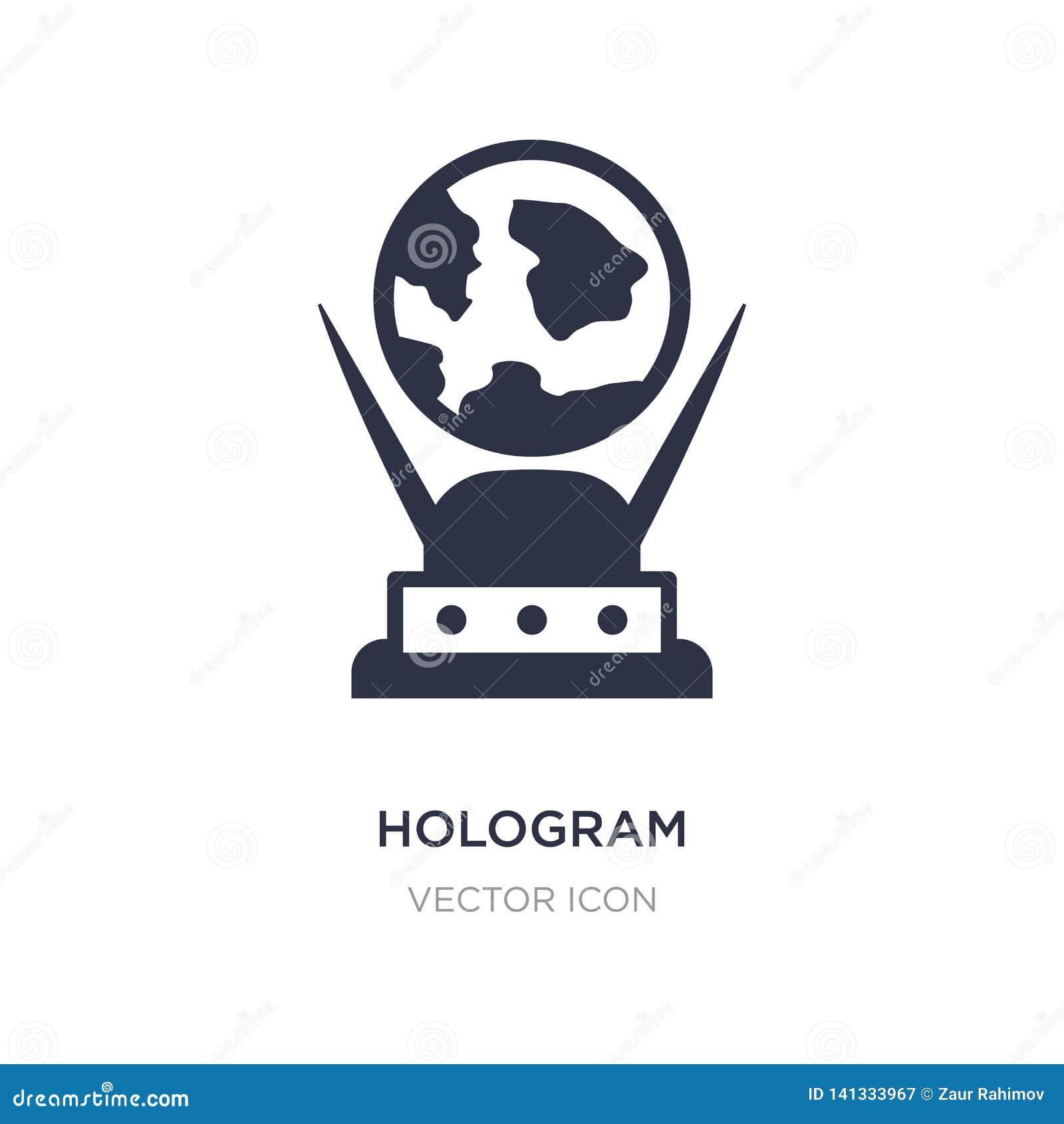 Hologrammikone auf weißem Hintergrund Einfache Elementillustration vom zukünftigen Technologiekonzept