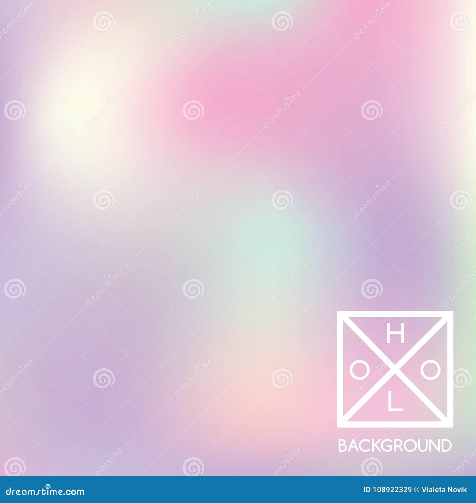 Holographic bakgrund Holo regnbågsskimrande räkning Bakgrund för pastellfärgade färger för lutning mjuk