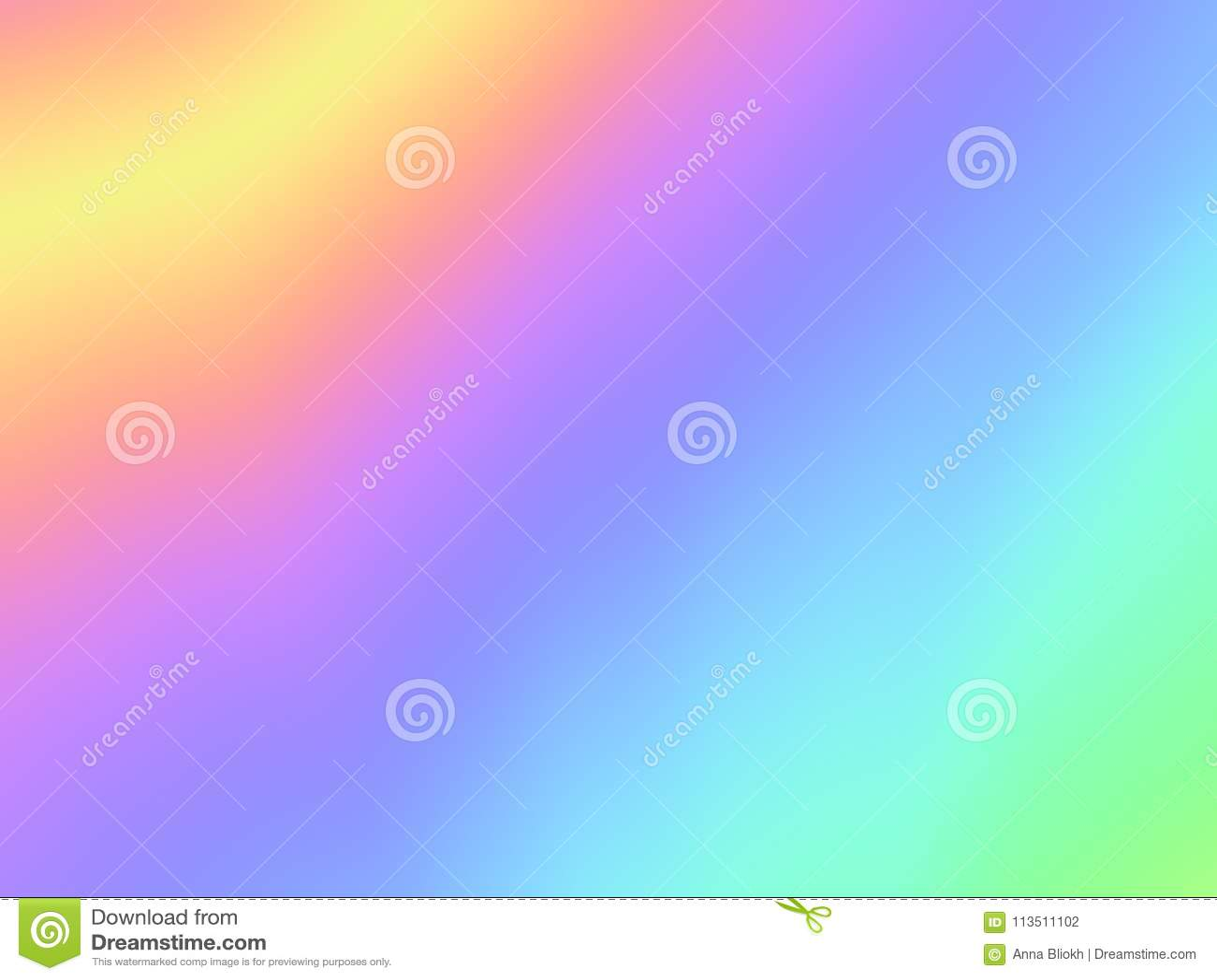 Pastel Summer Neon Gradient: Holographic Foil Background Multi Color Gradient Blurry