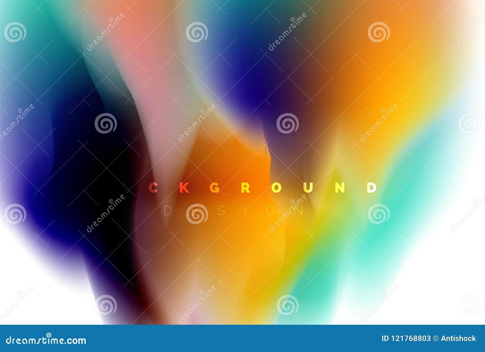Holographic paint explosion design, fluid colors flow, colorful storm. Liquid mixing colours motion concept, trendy