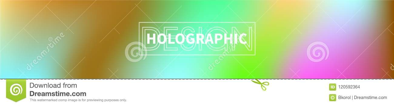 Holographic Vector Background. Iridescent Foil. Glitch ...