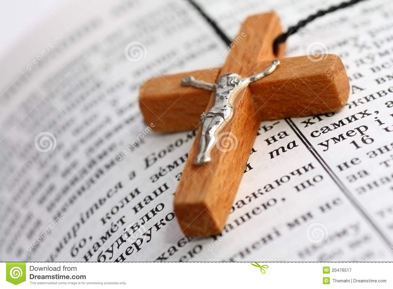 holy bible and cross stock image image of page ukrainian 20476517