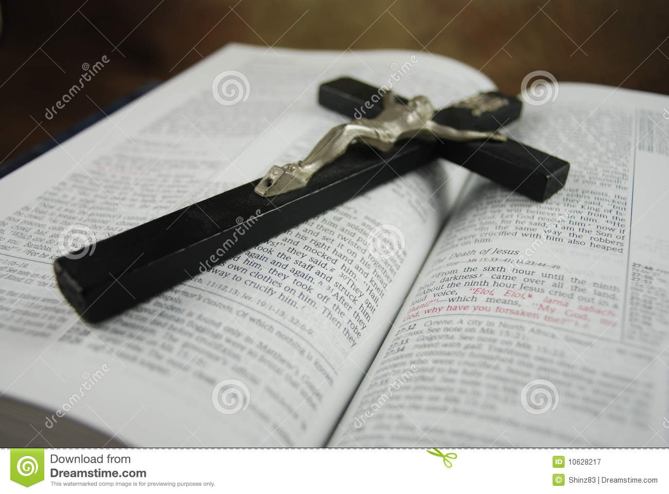 the holy bible with cross of jesus royalty free stock photography