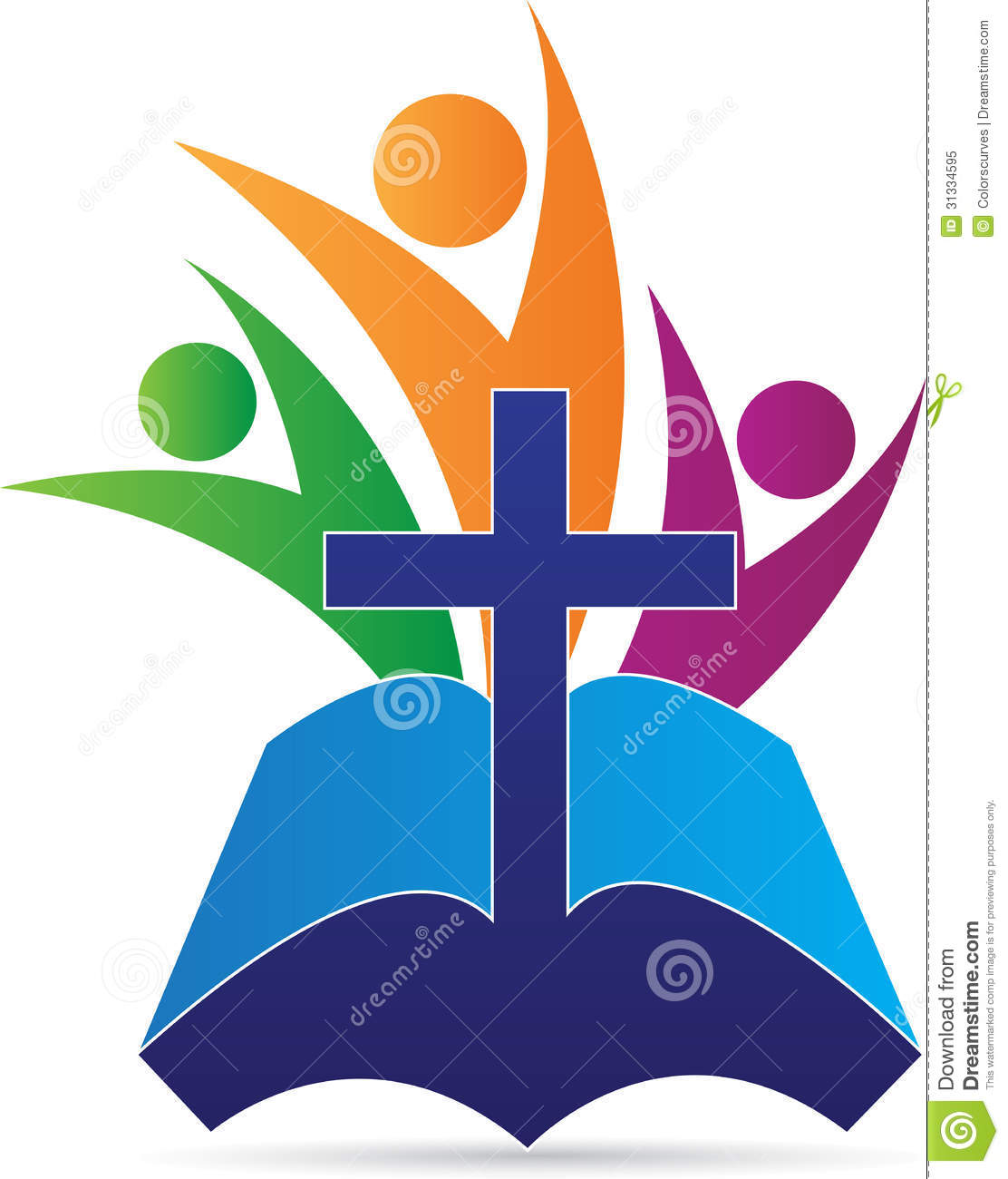 holy bible cross people stock vector illustration of illustration rh dreamstime com Religious Symbols Clip Art Jesus Is Lord Clip Art