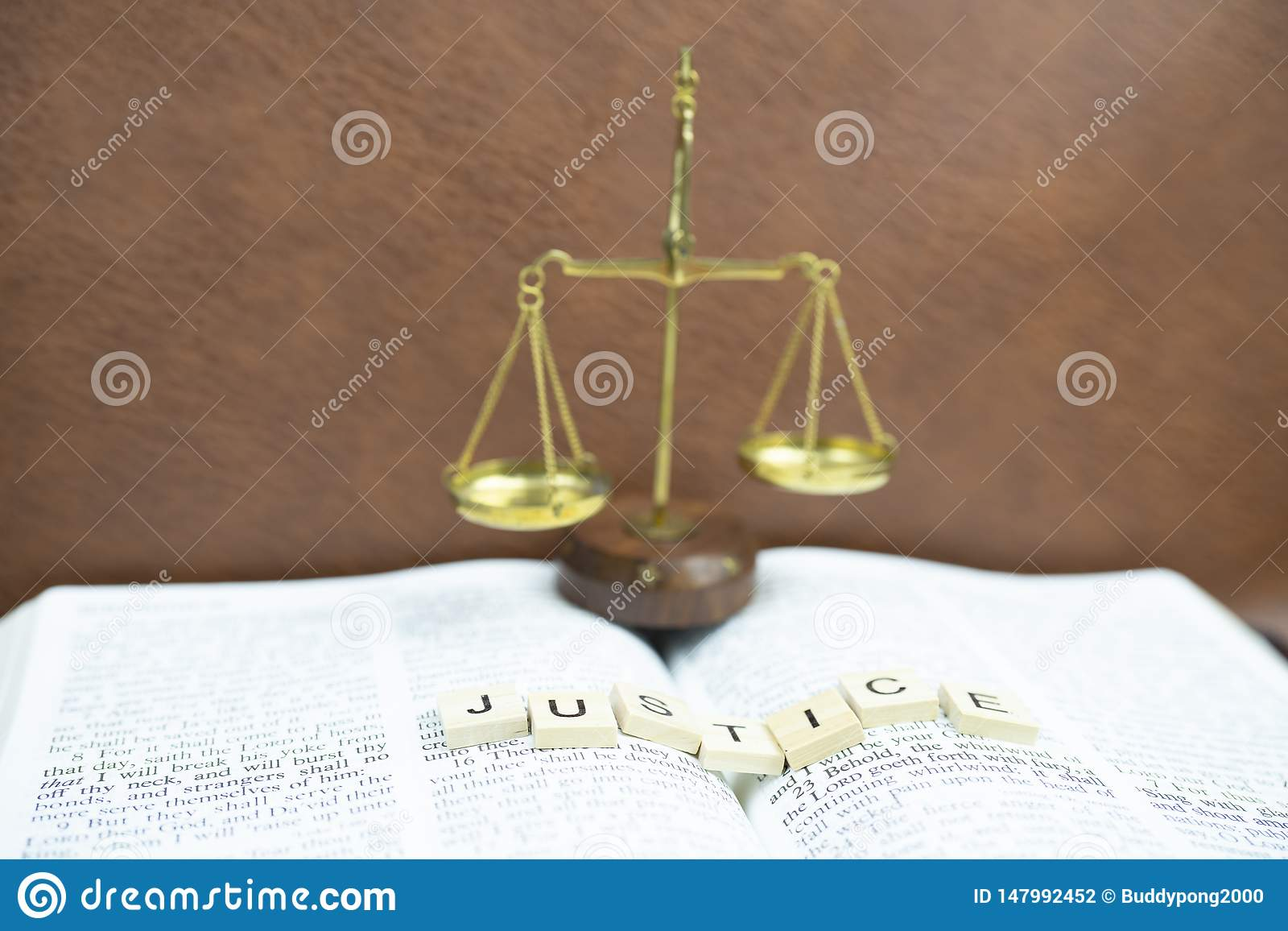 Holy bible is justice stock photo  Image of holy, glowing - 147992452