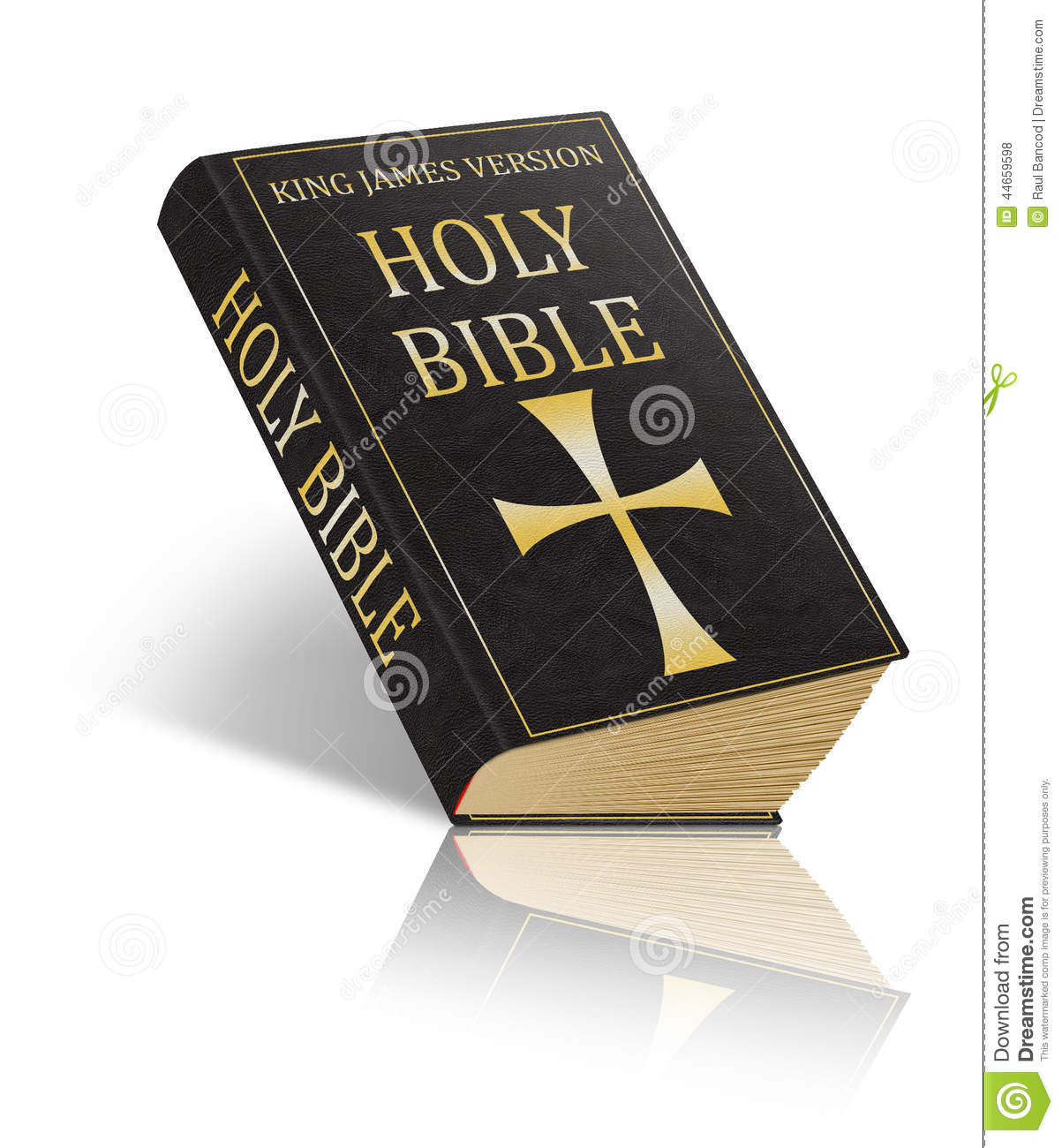 The Holy Bible - King James Version Stock Photo - Illustration of