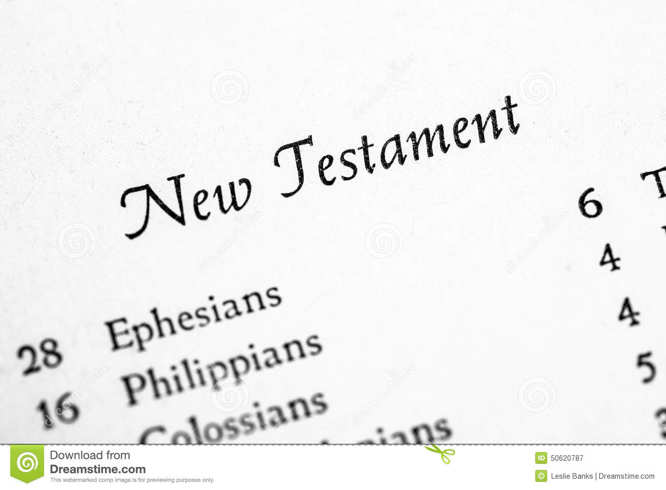 Holy Bible New Testament stock image  Image of pages - 50620787