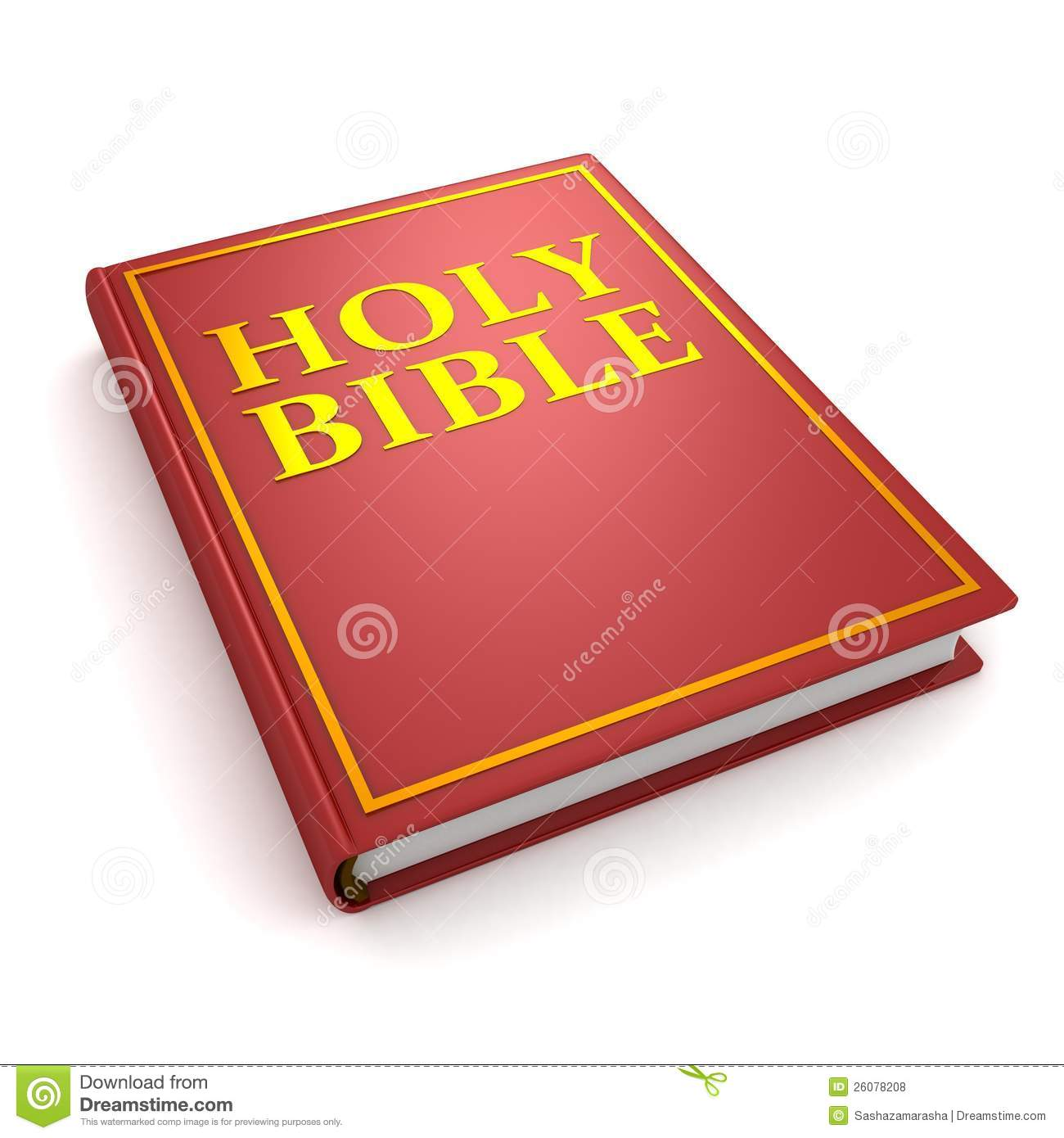 holy bible red book on white background royalty free stock photos