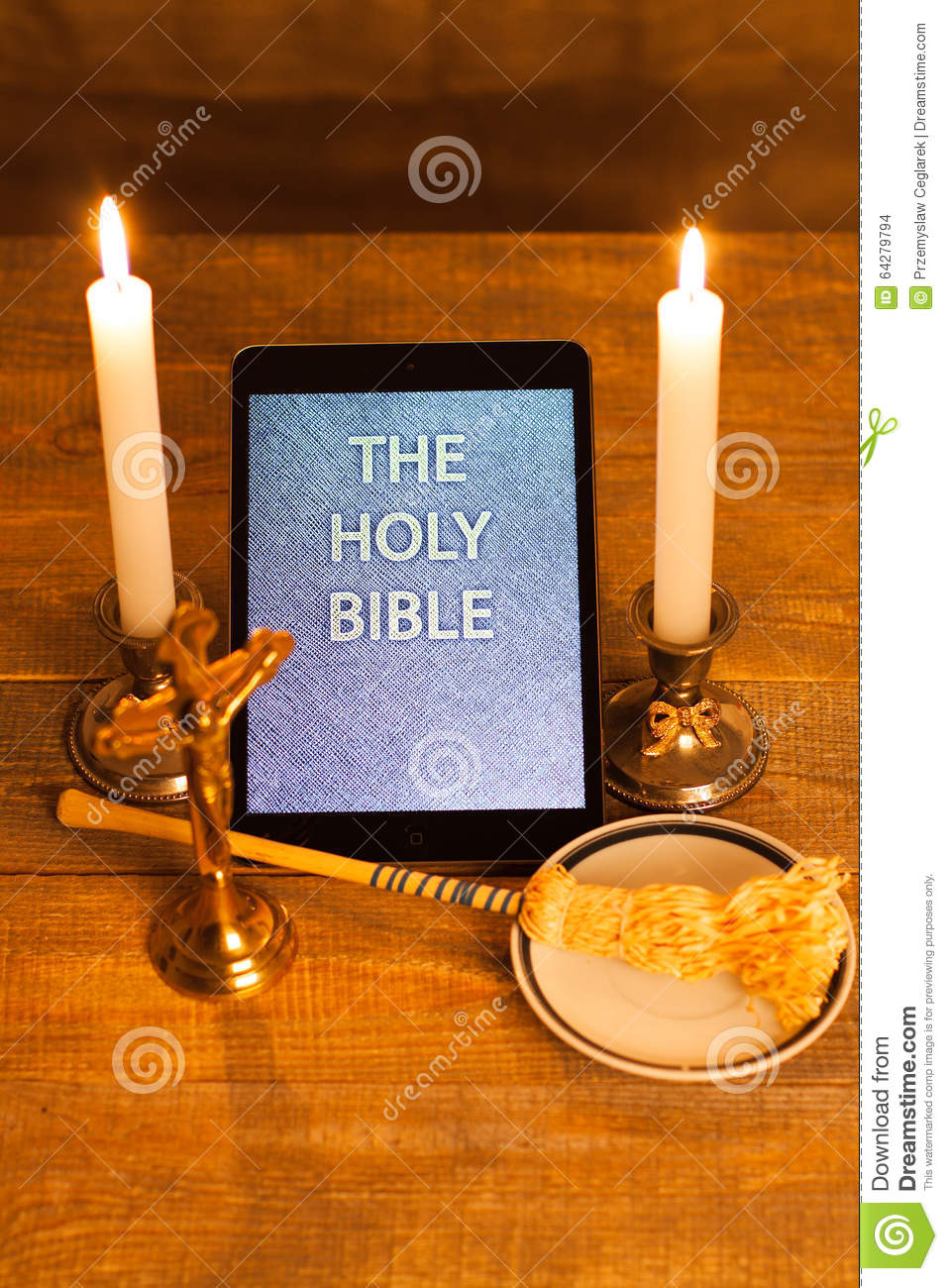 Aspergillum And Holy Water Royalty Free Stock Photo