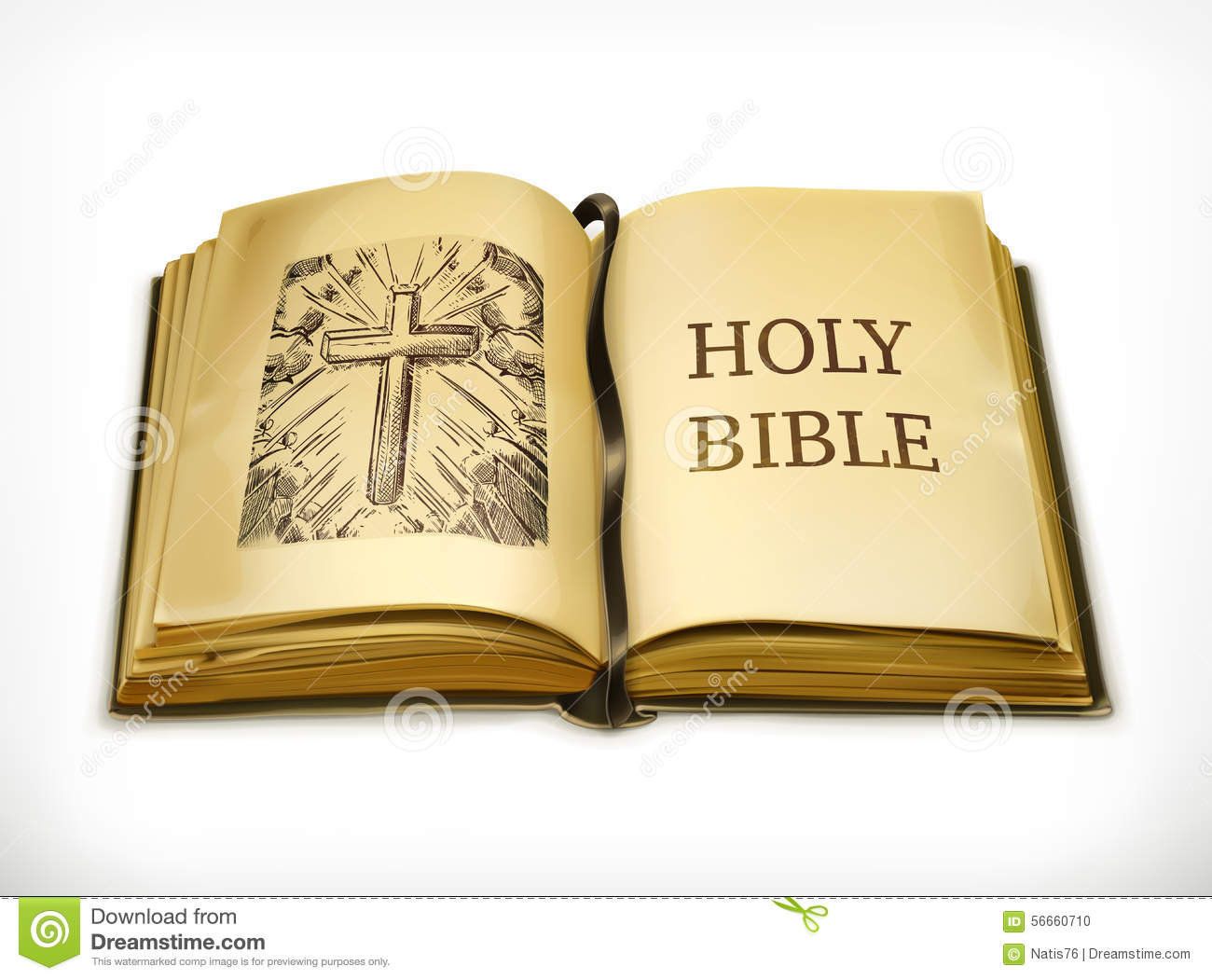 Holy bible vector illustration stock vector image 56660710