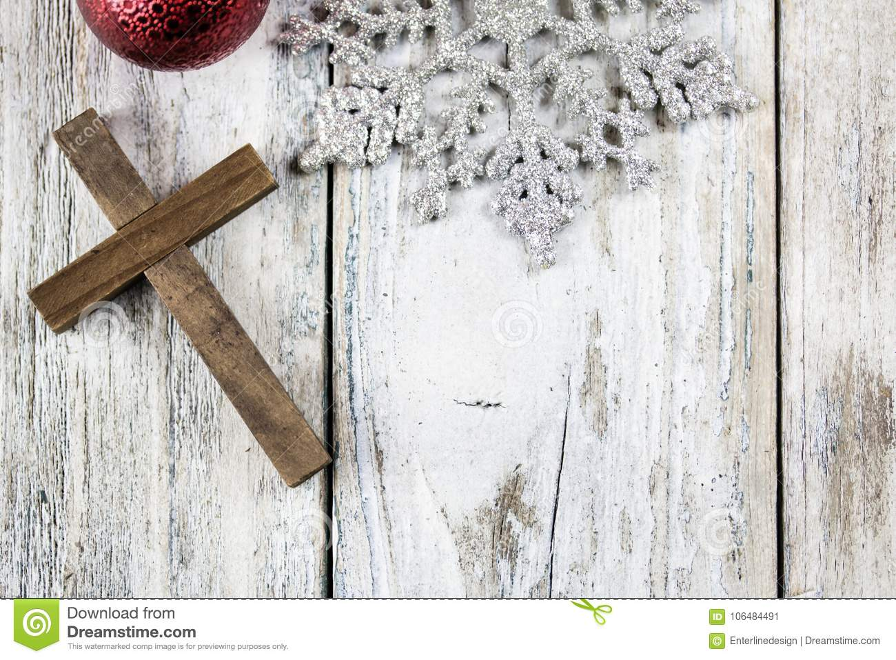 Holy Christian Cross And Christmas Holiday Theme Background Stock ...