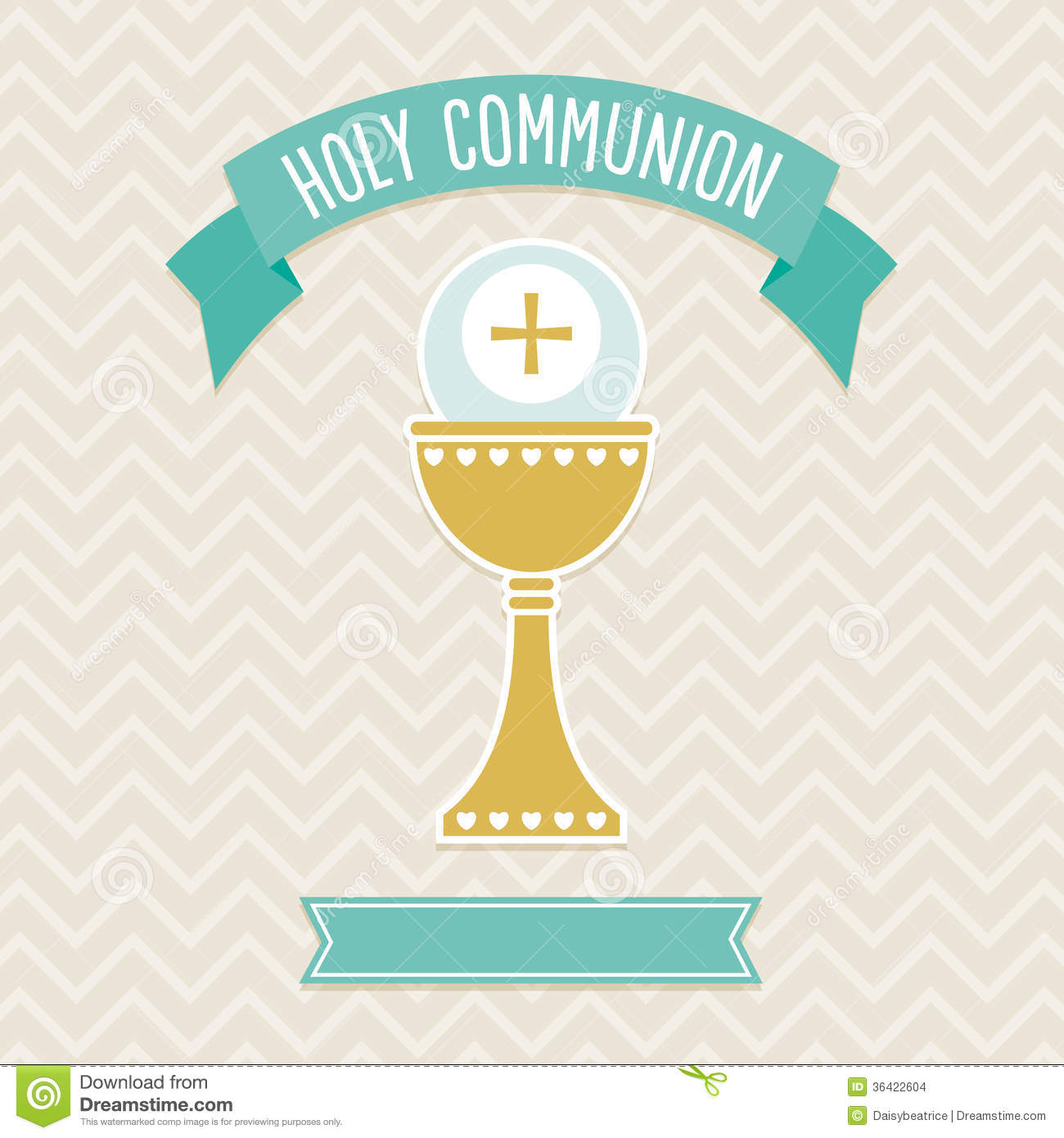 Holy Communion Card Template Stock Vector Image