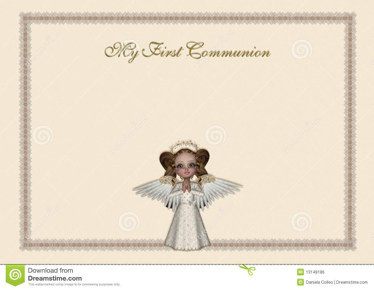 Holy Communion Invitation Stock Illustration Image Of