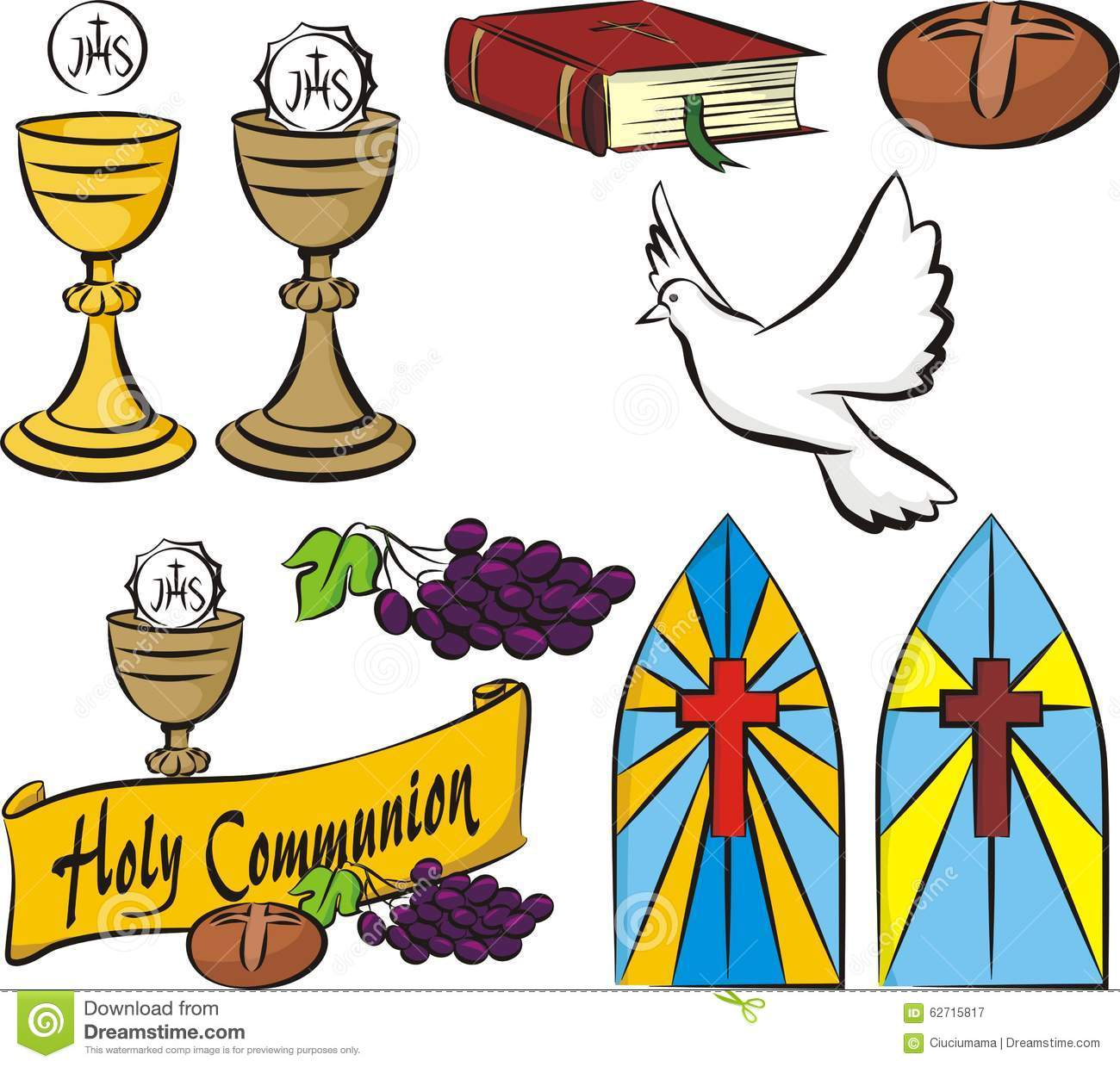 Holy Communion Vector Symbols Stock Vector Illustration Of