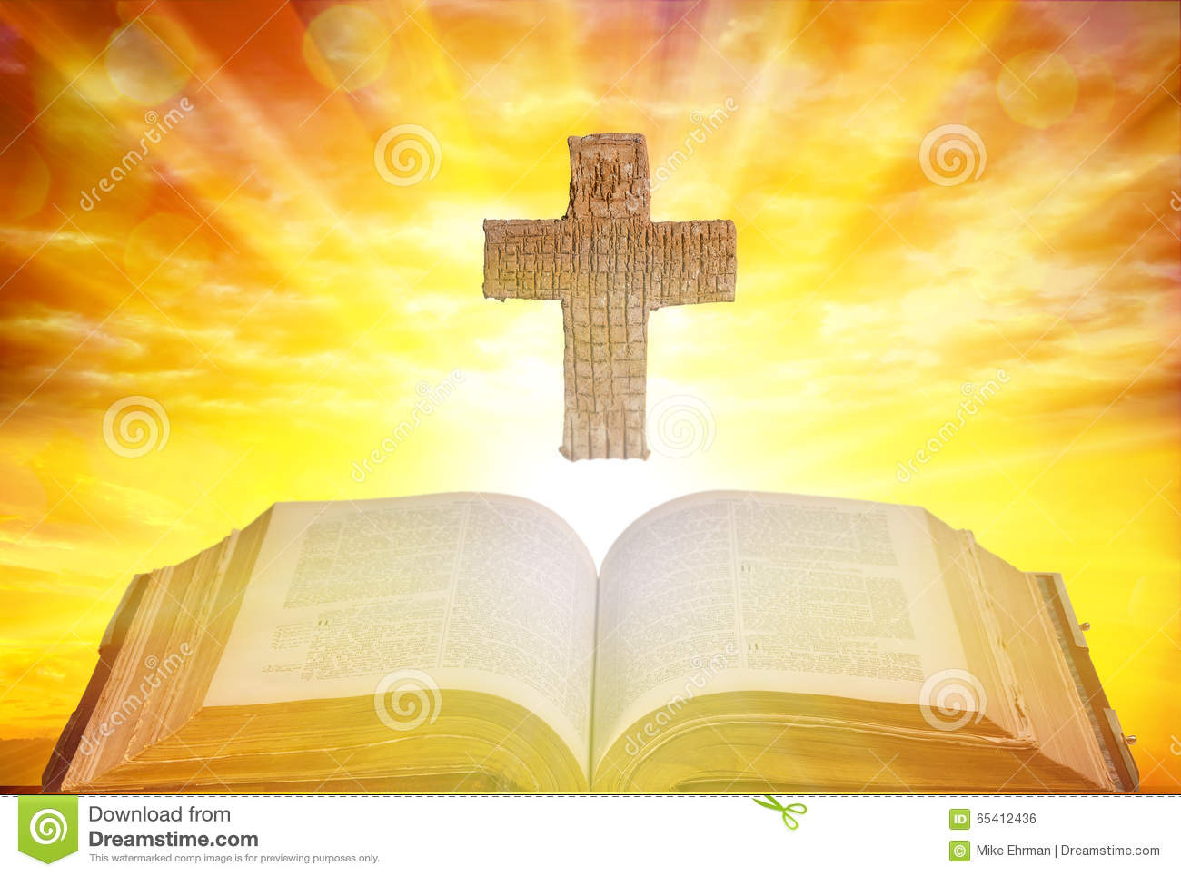Silhouette of the holy cross on background of storm clouds stock - Holy Cross And Bible Royalty Free Stock Image