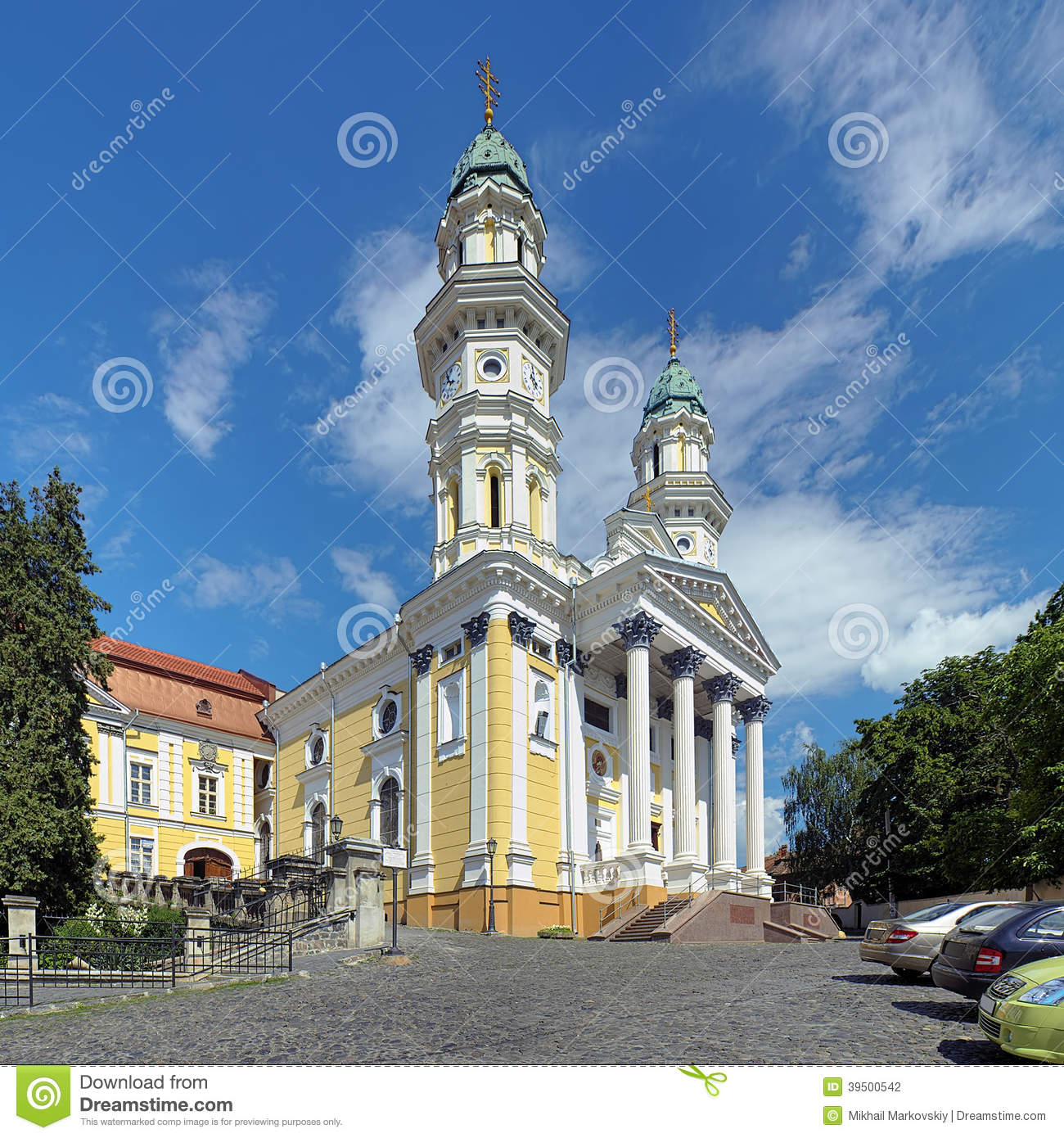 Holy Cross Cathedral in Uzhhorod, Ukraine