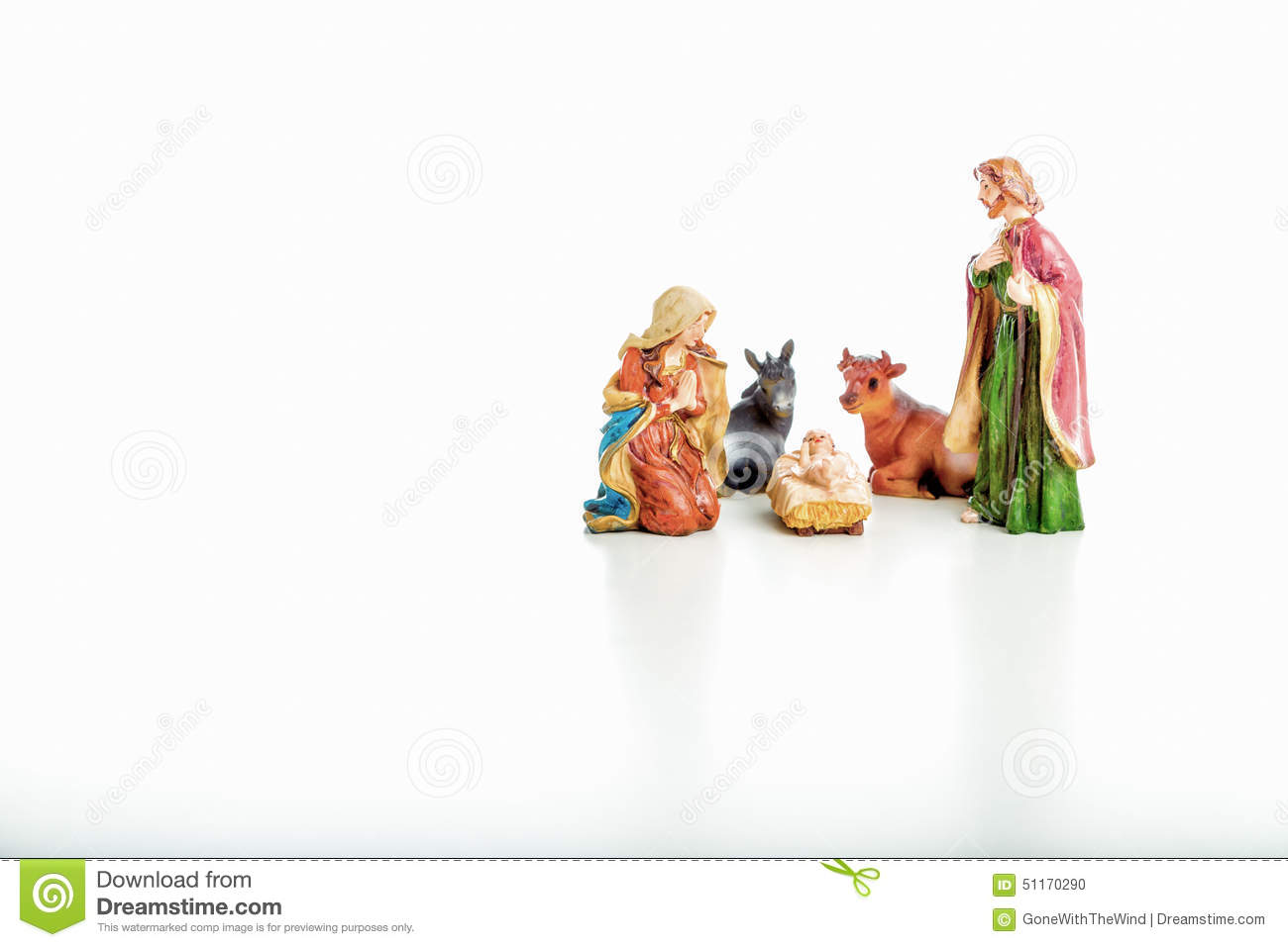 The Holy Family In A Christmas Crib Stock Photo - Image of presepio ...