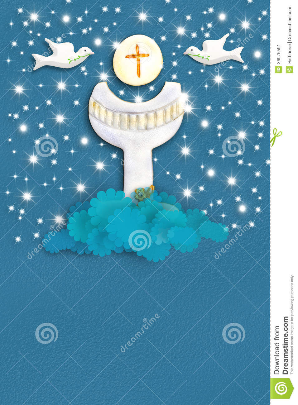 Holy Grail Communion Greeting Card Stock Image Image 36975591