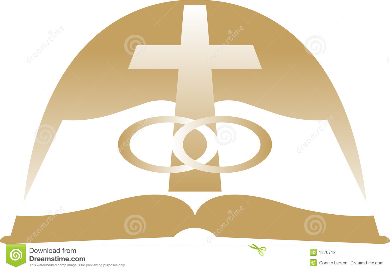 interlocking wedding rings vector