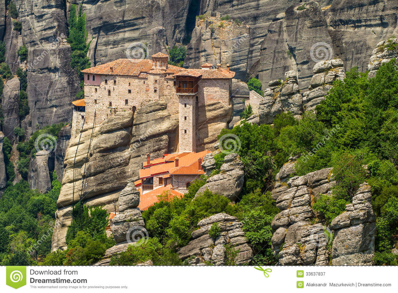 The Holy Monastery Of Rousanou Royalty Free Stock ...