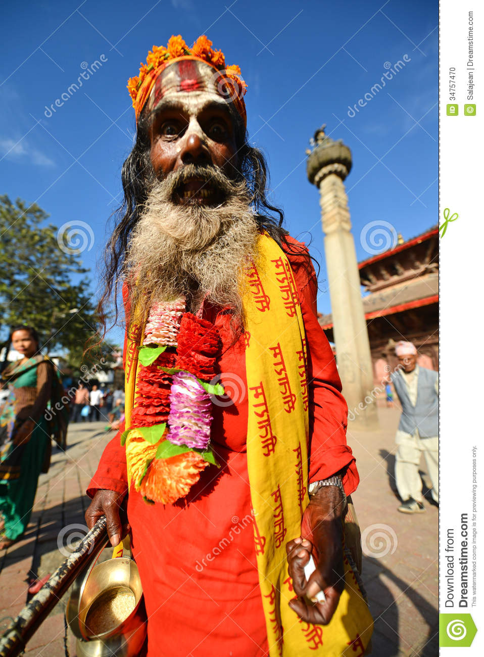 Holy Sadhu Hindu Man Editorial Image Image 34757470