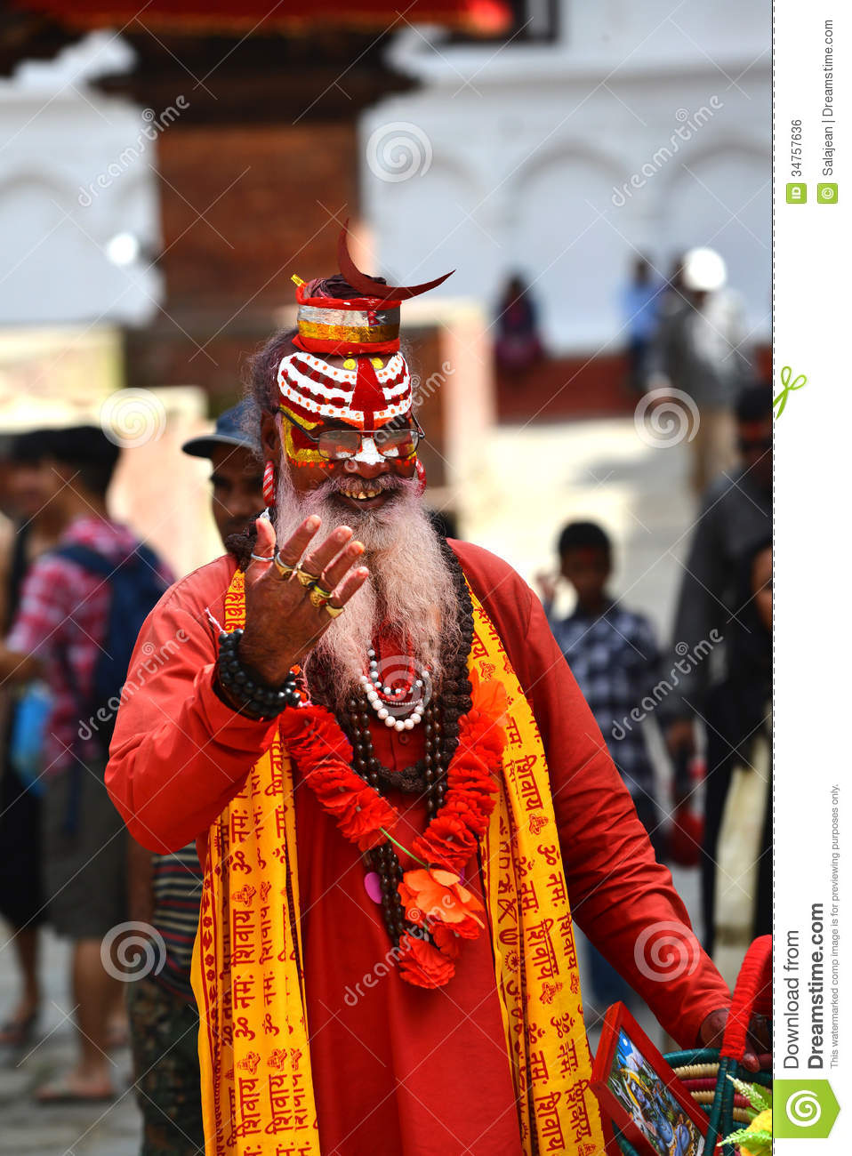 Holy Sadhu Hindu Man Editorial Photo Image 34757636
