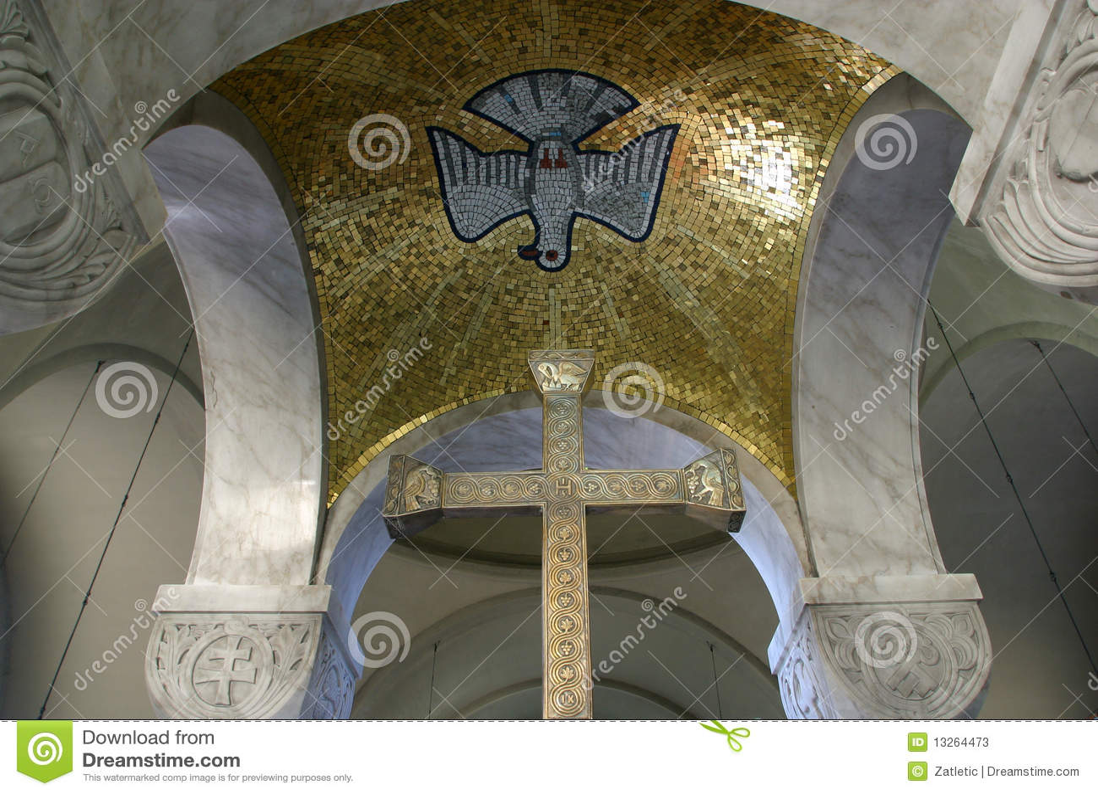 Holy Spirit Bird And Cross Stock Image Image Of Church 13264473