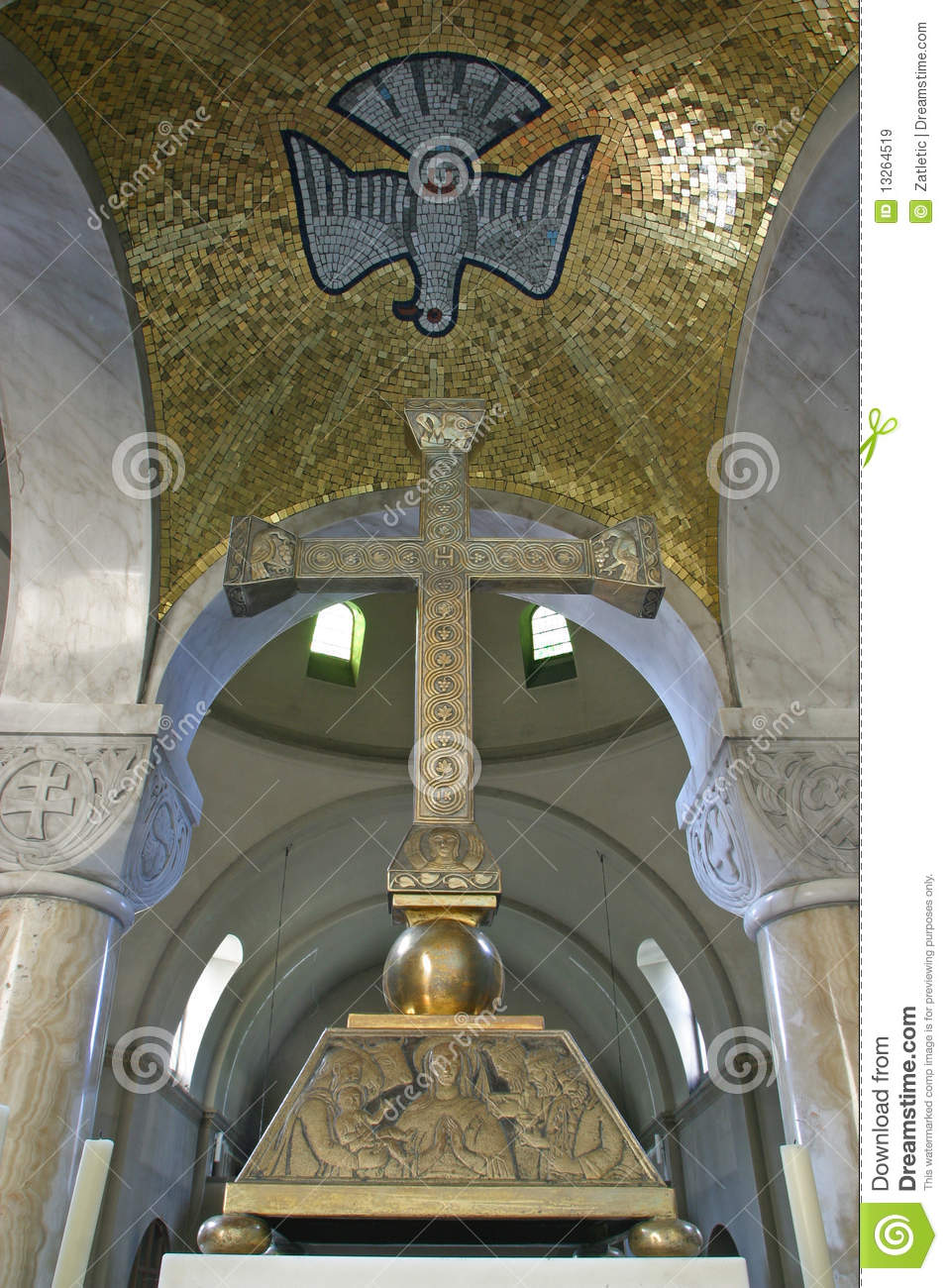 Holy Spirit Bird And Cross Stock Image Image Of Europe 13264519