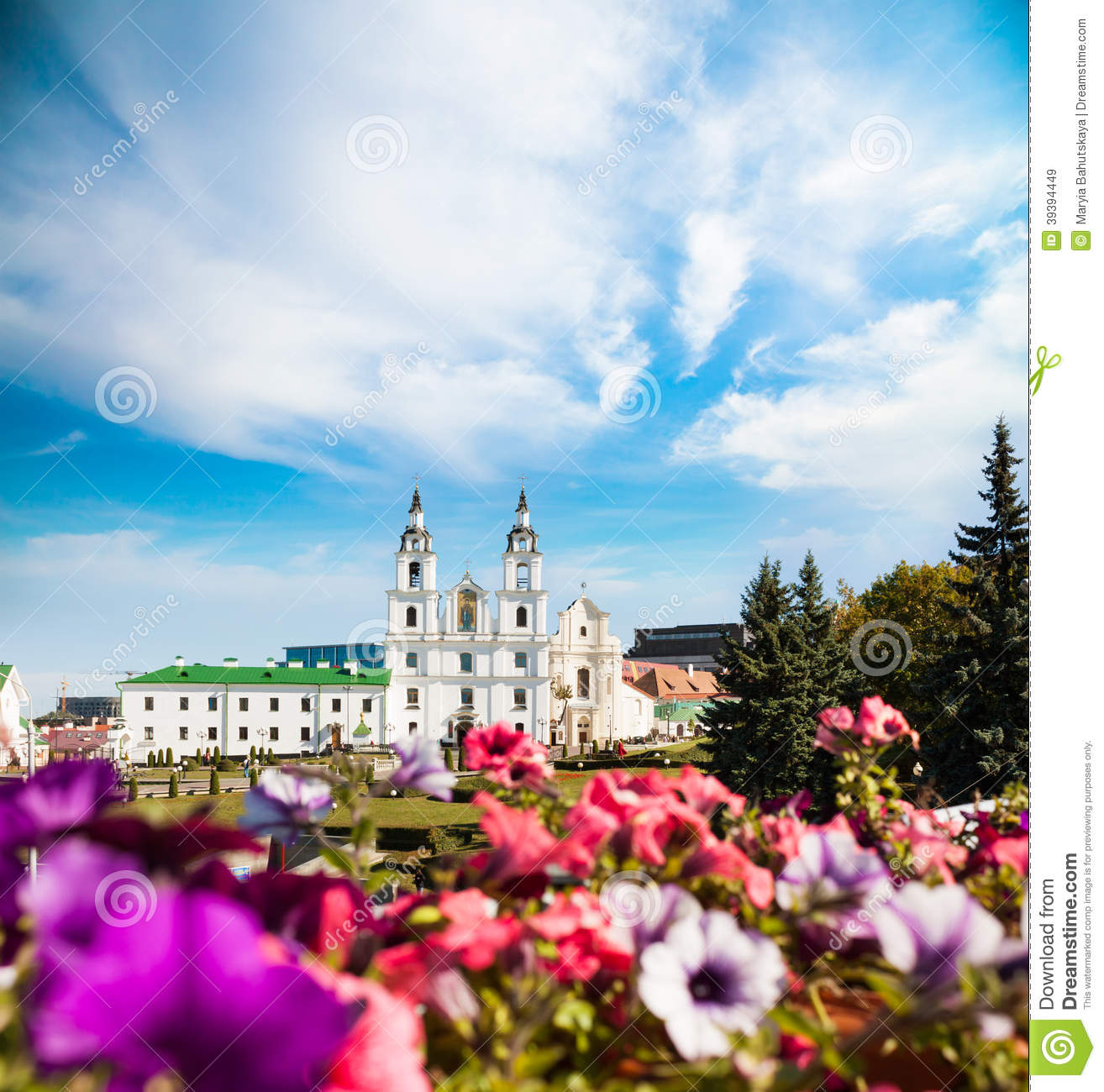 Holy Spirit Cathedral In Minsk Belarus Stock Image