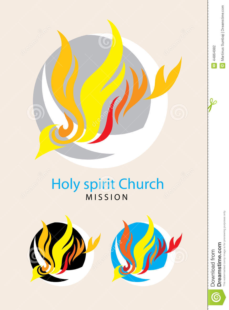 Global Holy spirit church mission logo, art vector design.