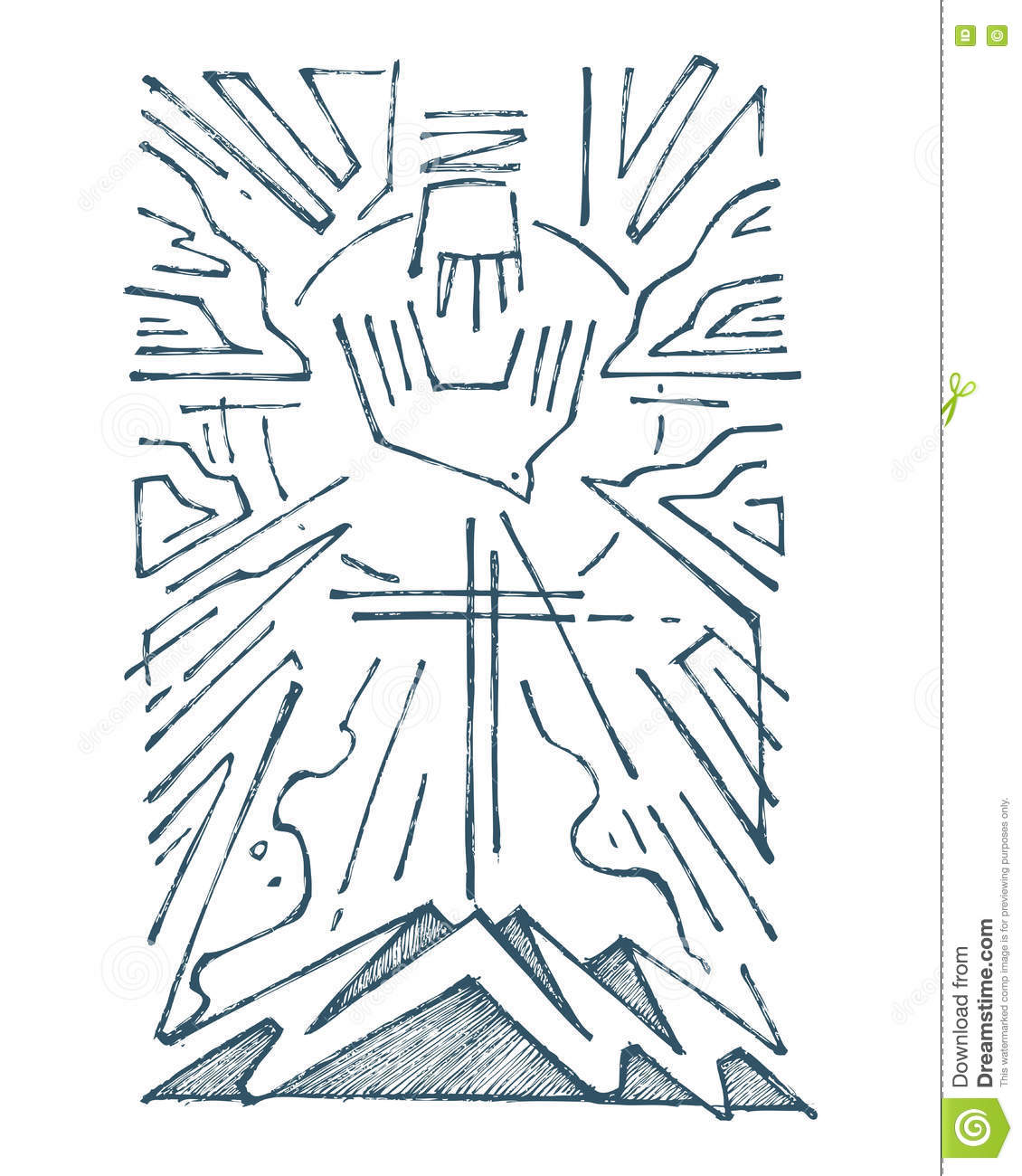 Holy trinity hand drawn illustration stock illustration holy trinity hand drawn illustration biocorpaavc Image collections