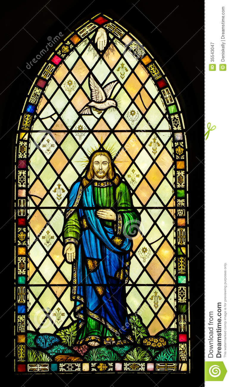 Stained Glass Windows : Holy trinity stained glass window stock image of