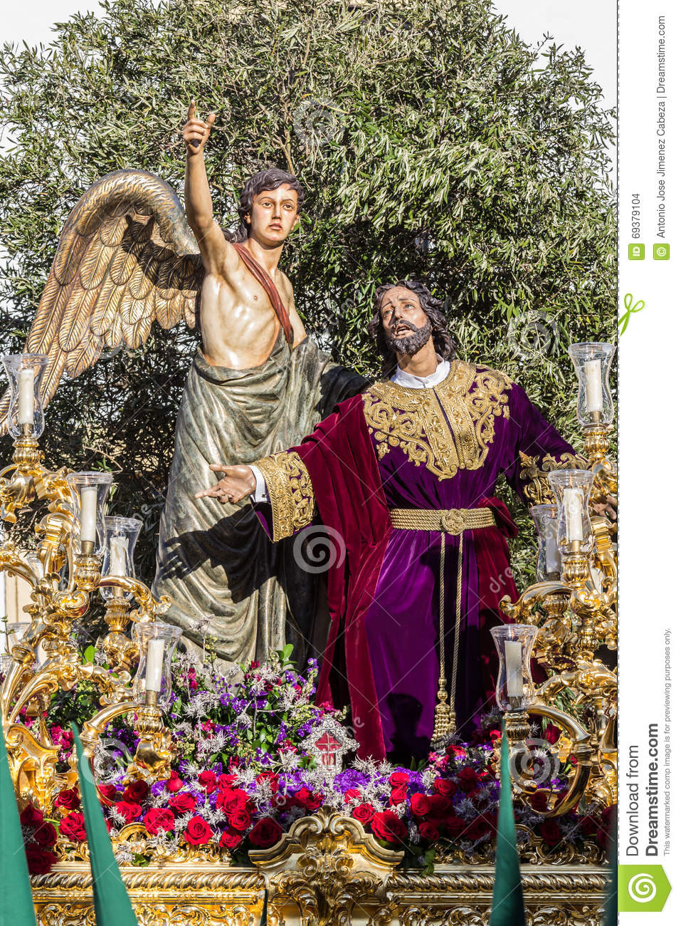 Holy Week in San Fernando, Cadiz, Spain. Prayer of Our Lord in the Garden.