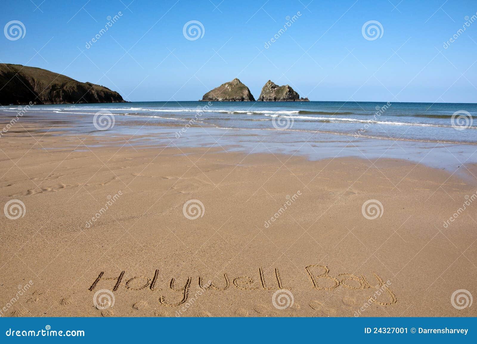 Holywell cornwall пляжа залива