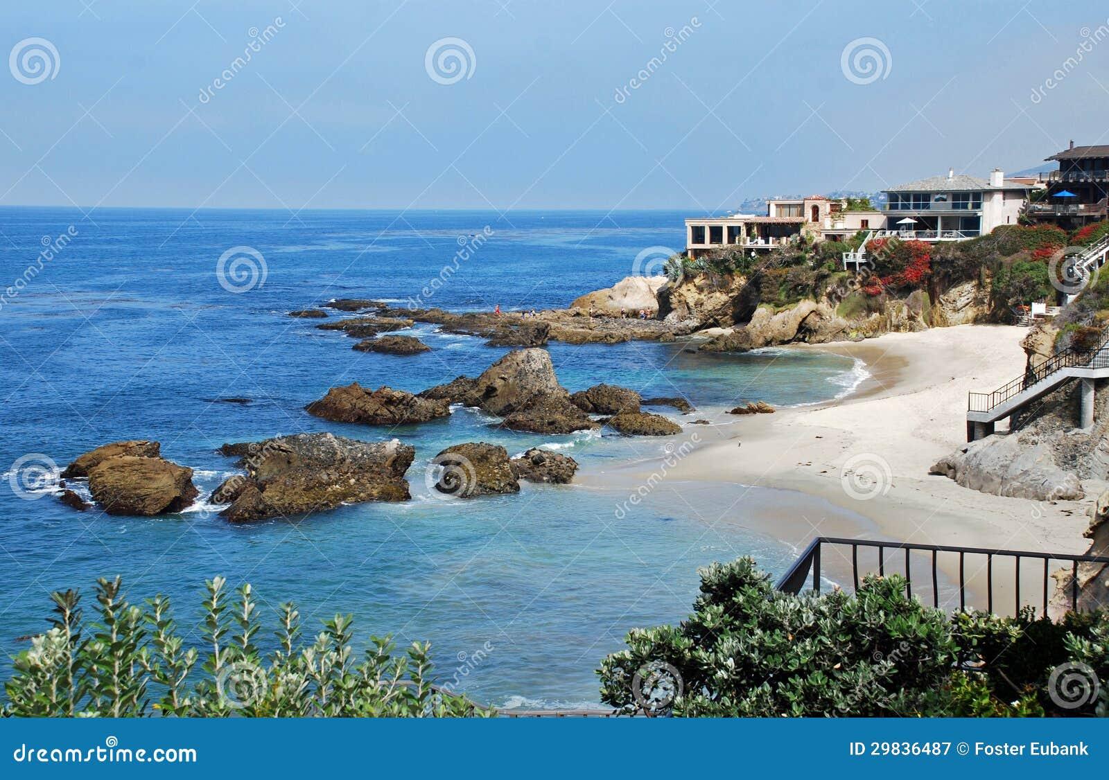 Holz-Bucht, Laguna Beach, Kalifornien. Lizenzfreie ...  Holz-Bucht, Lag...
